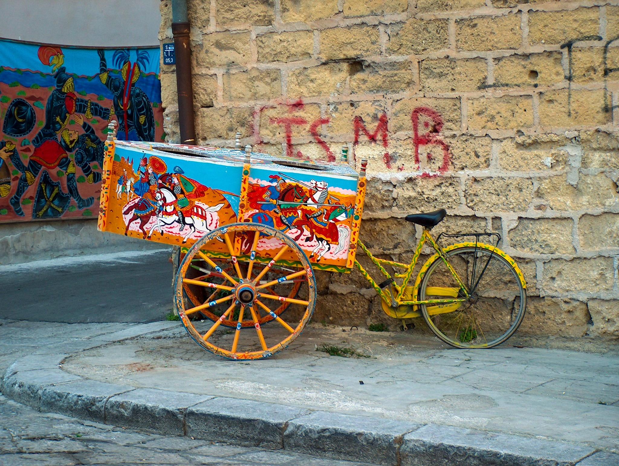 Palermo - sicilian cart by Carlo Orsettigh