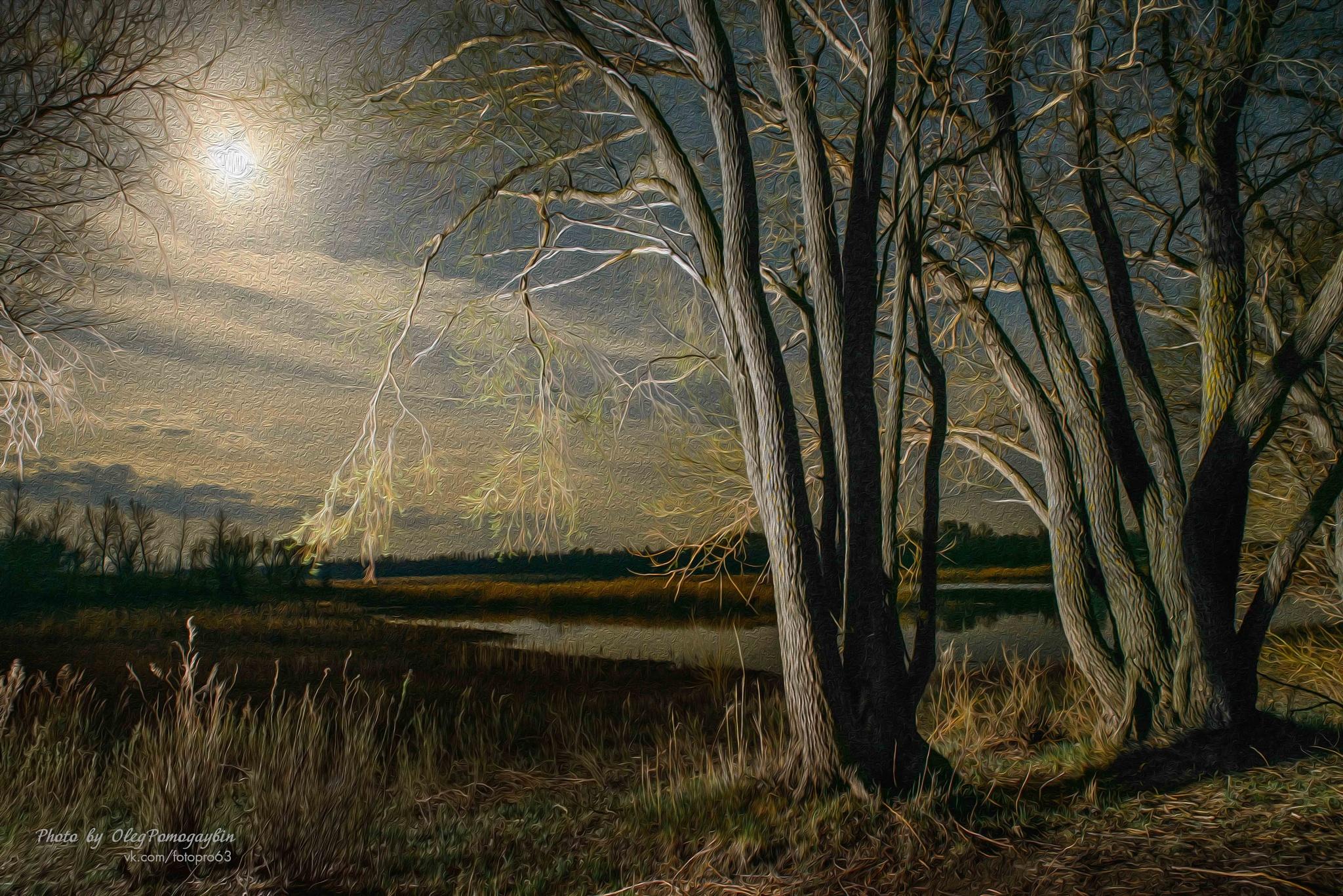 First May night by Oleg  Pomogaybin