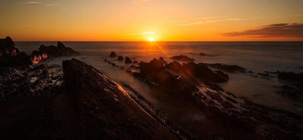 Seascape Sunset ,  Bude,  Cornwall. by Paul Mccreaddie
