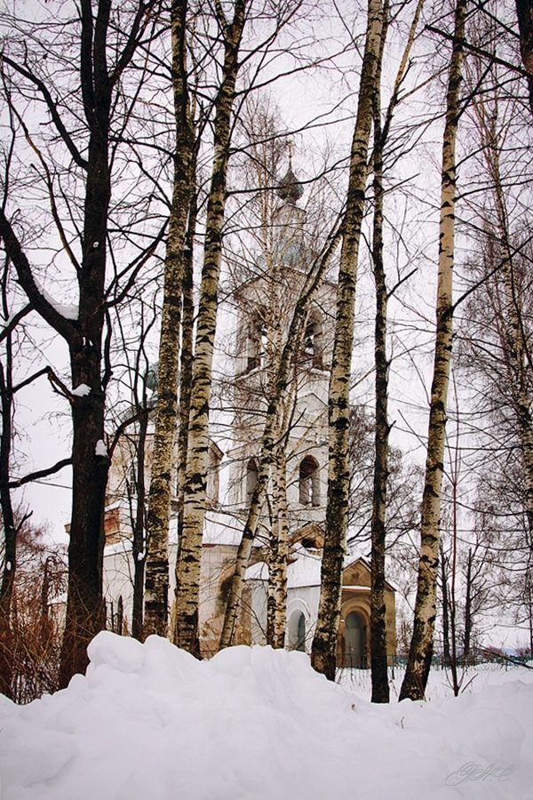 Church in the grove by Natali2pf