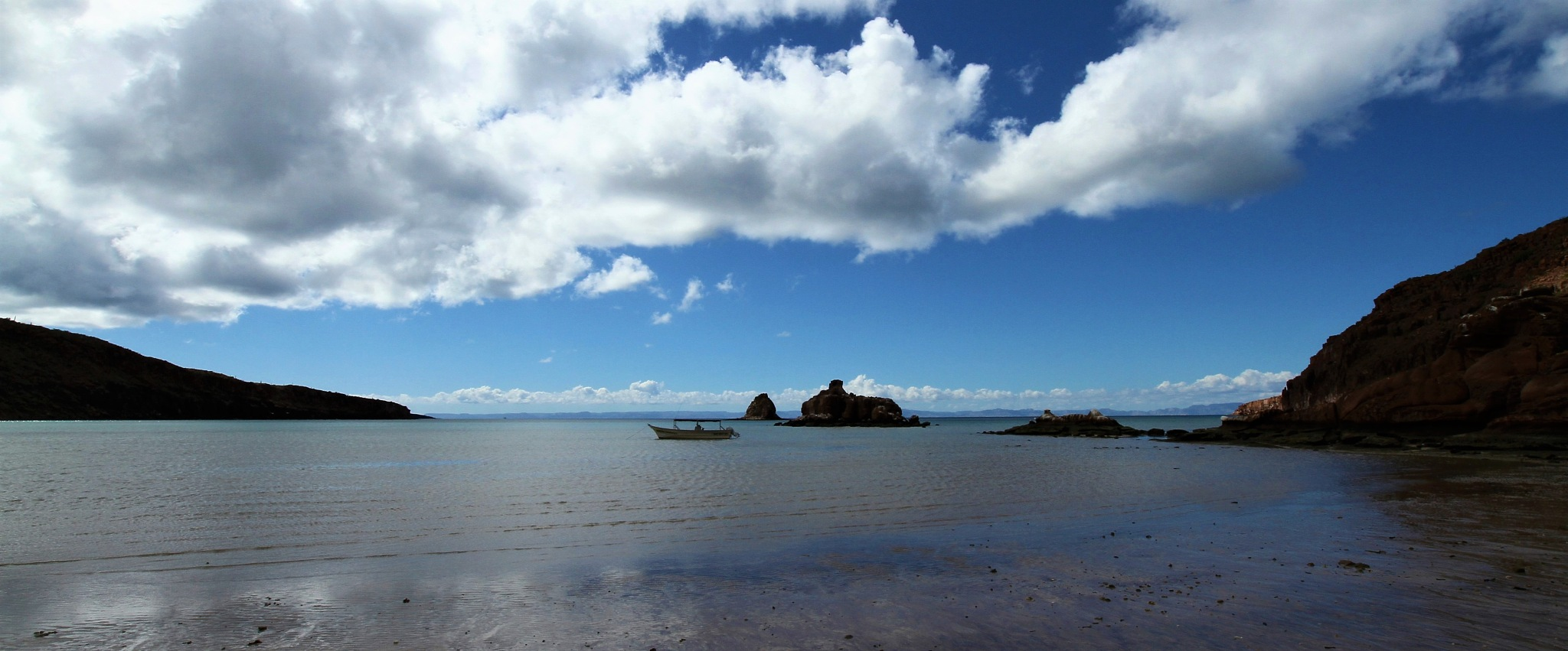 LOW TIDE  &  CLOUDS- by Miguel Angel Martinez