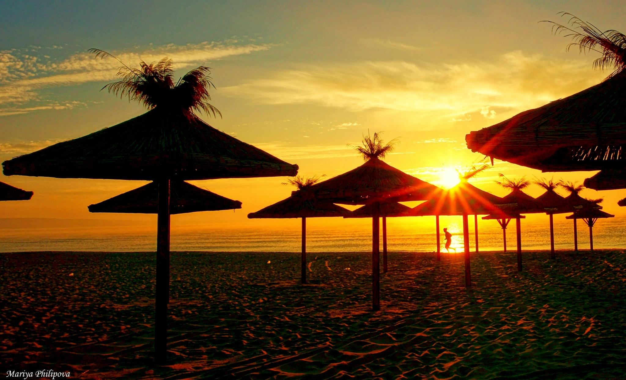 Photo in Landscape #sea #mirning #sunrise #rising #sun #landscape #mariyaphilipova