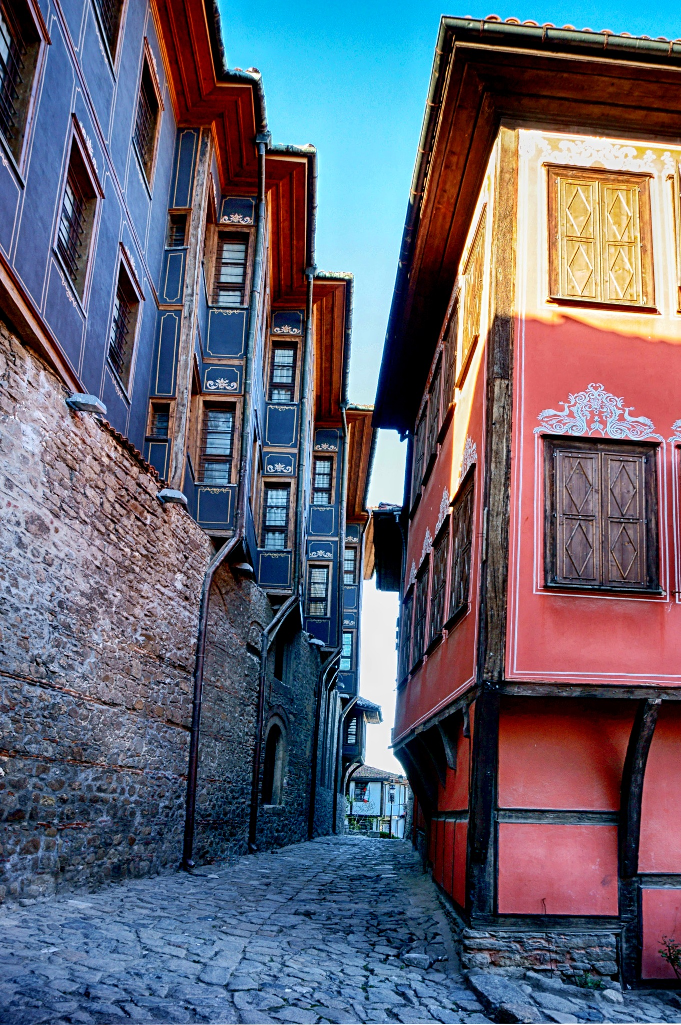 Old Plovdiv - Steep street  by MariyaPhilipova