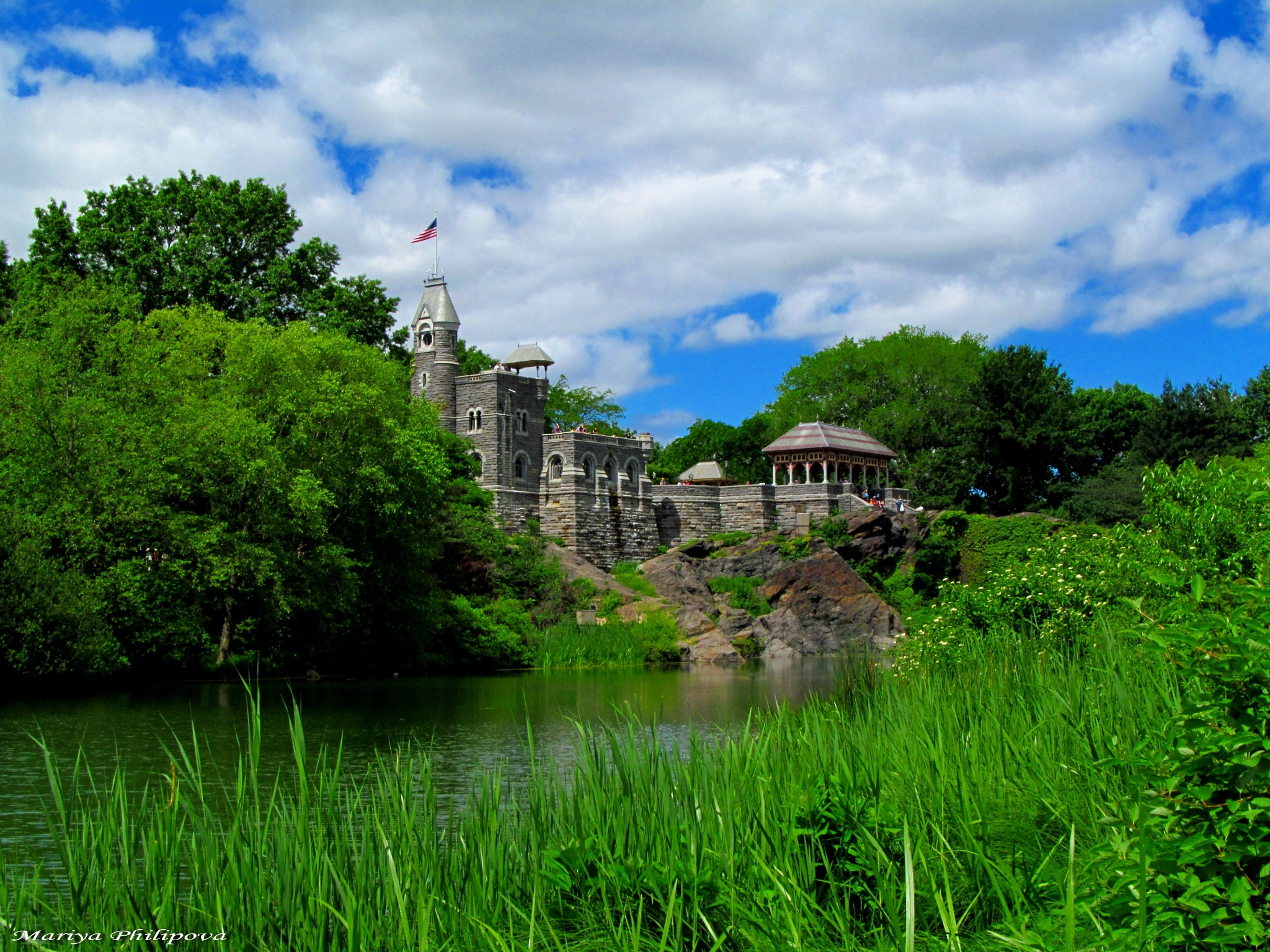 Belvedere Castle, Central Park, built 1869  by MariyaPhilipova