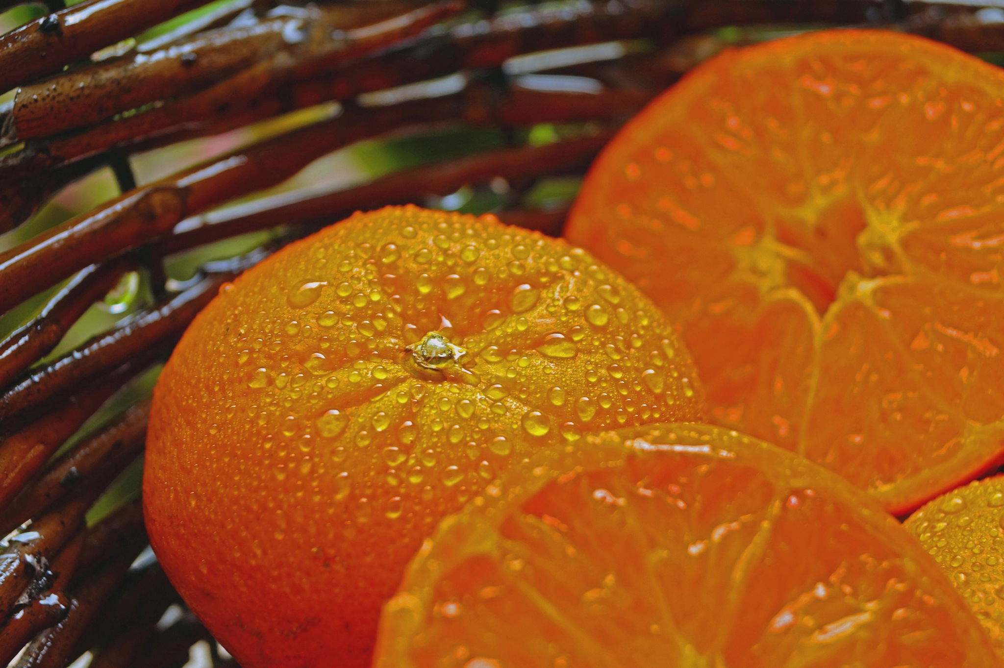 Mandarins in the Rain by Marian Baay