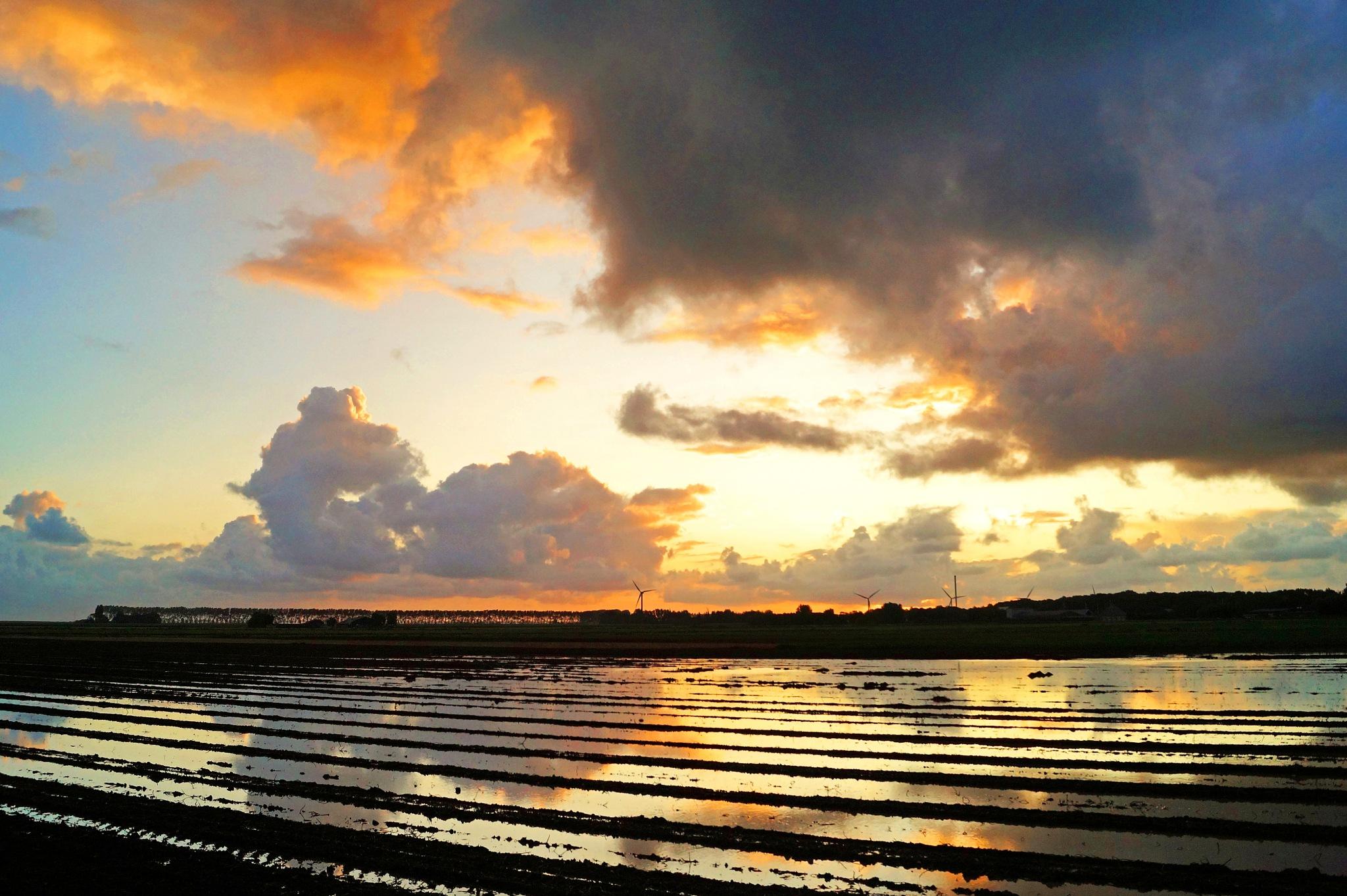 Cloudy Sunrise by Marian Baay