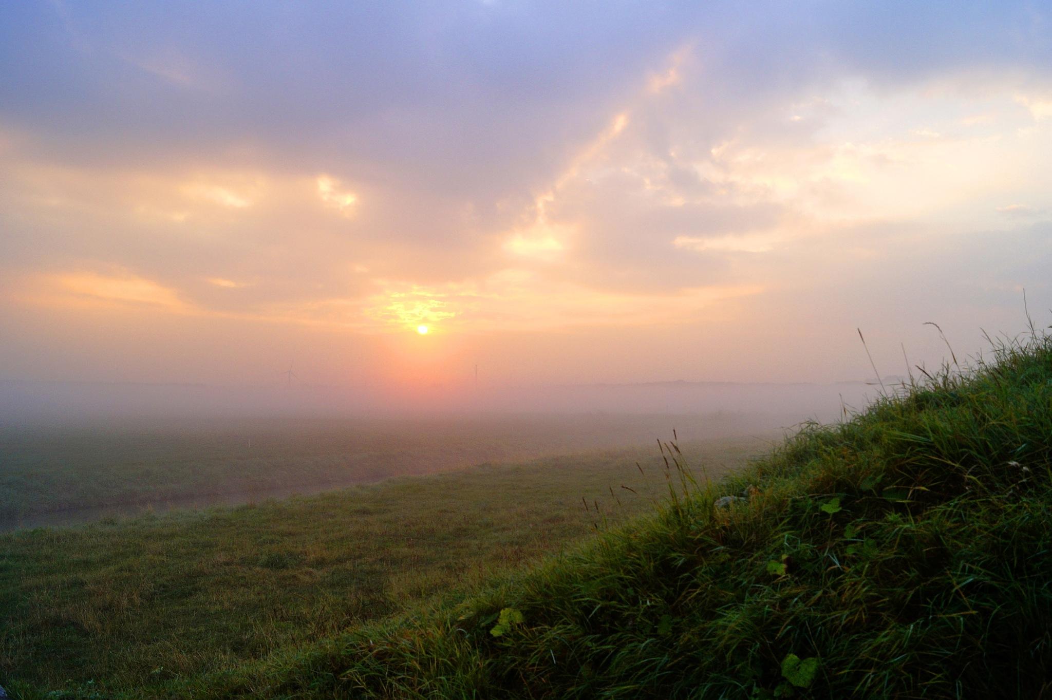 Misty Sunrise by Marian Baay