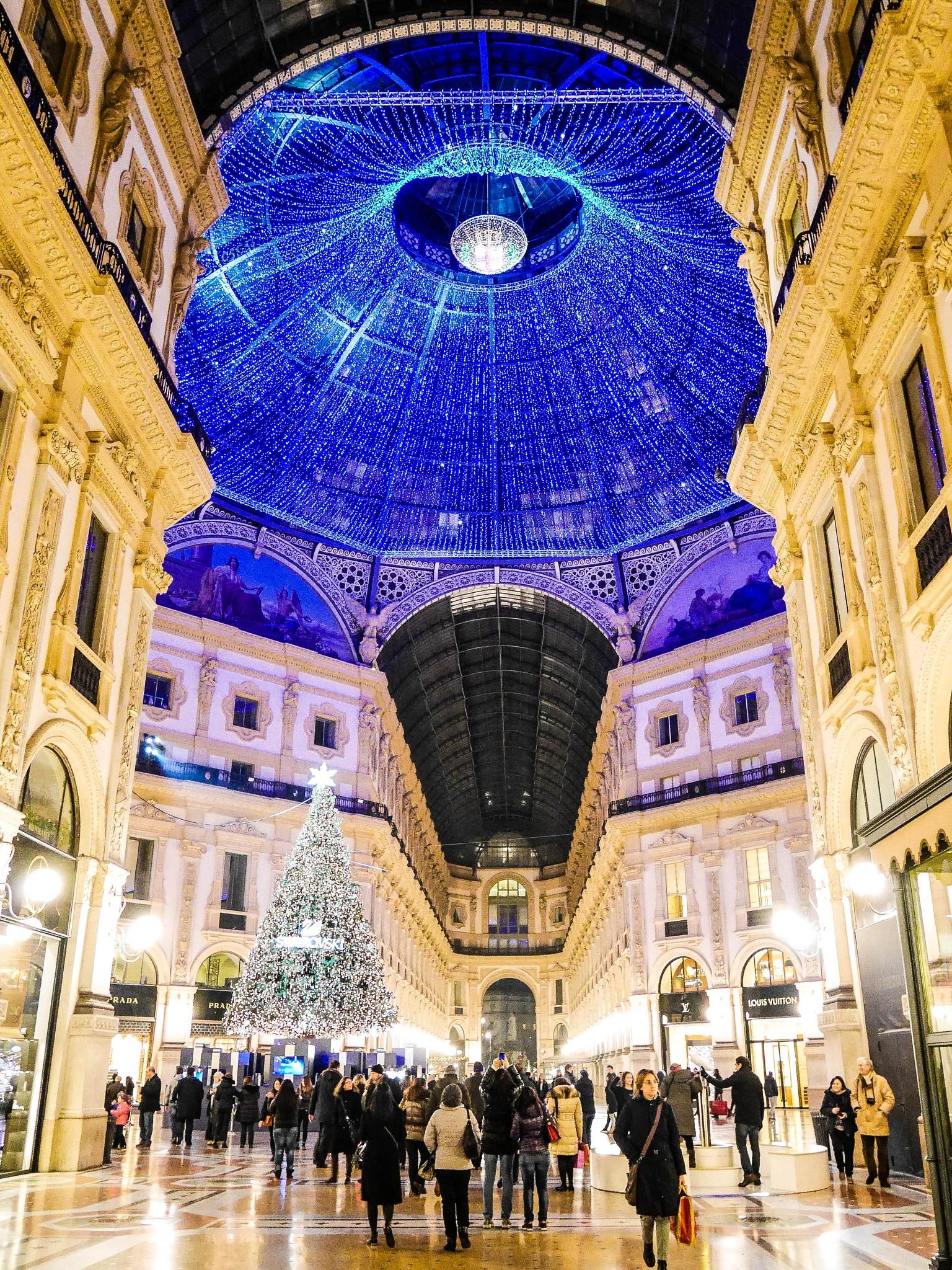 Photo in Architecture #galleria vittorio emanuele ii #milan #italy #architecture #christmas #colorful