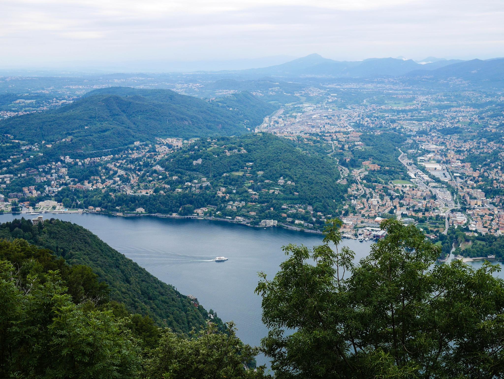 Photo in Landscape #como #lake #lago di como #scenic #landscapes #water #boat #italy