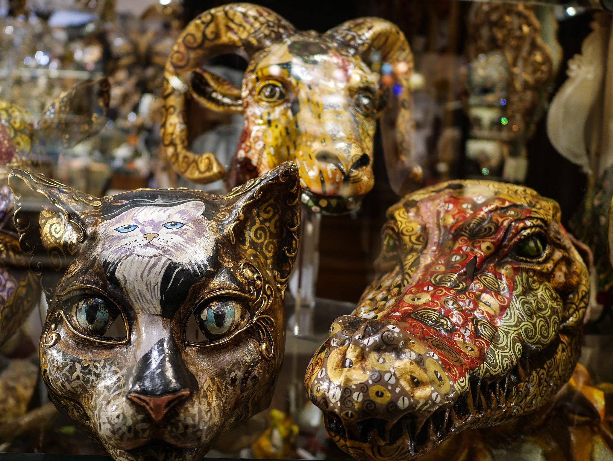 Venetian Masks by Gail Atangan