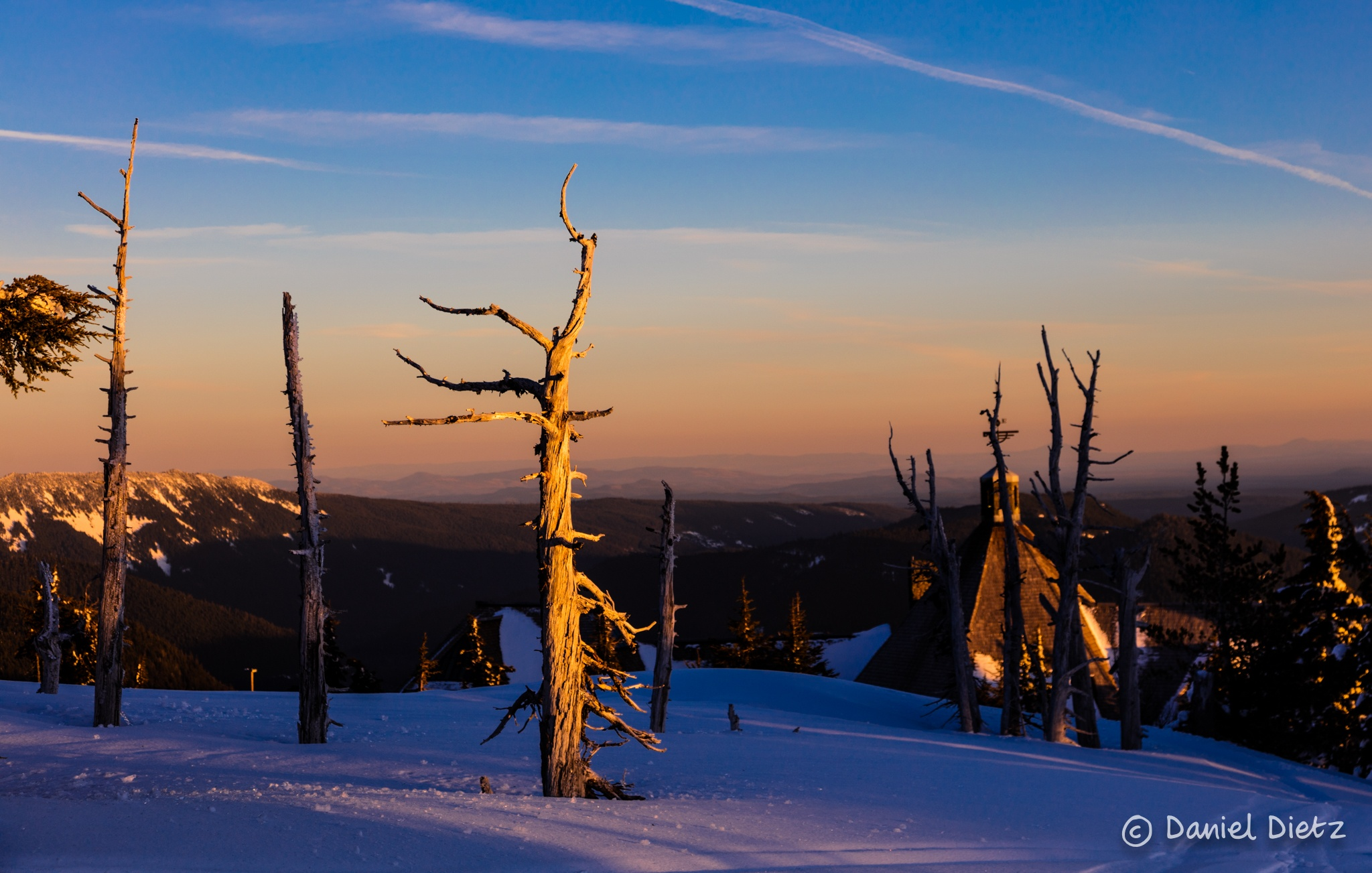 Photo in Landscape #mt hood #hood #oregon #snow #sunset