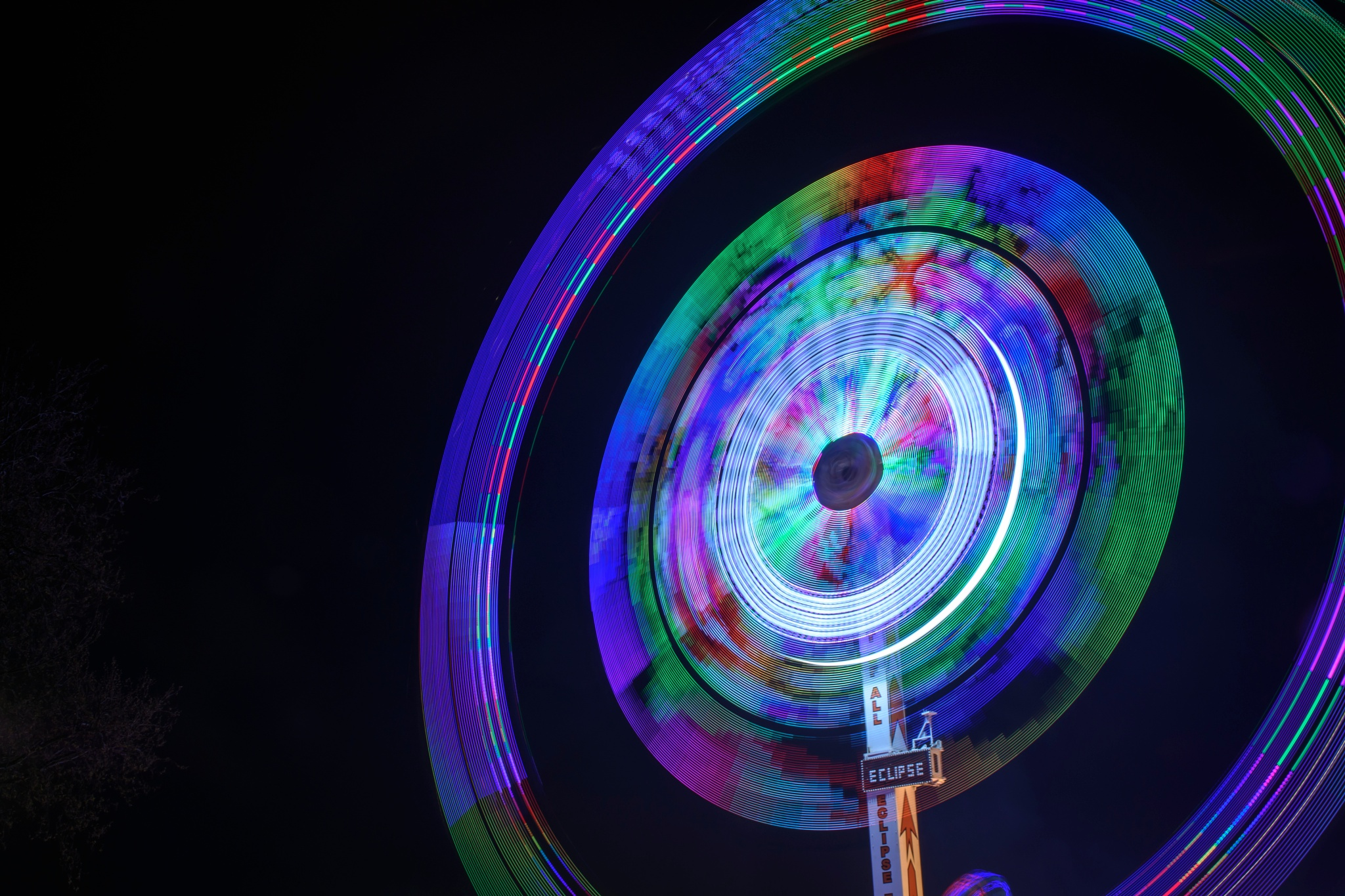 Photo in Abstract #carnival #light #low shutter #fairground #fun #circle #eclipse
