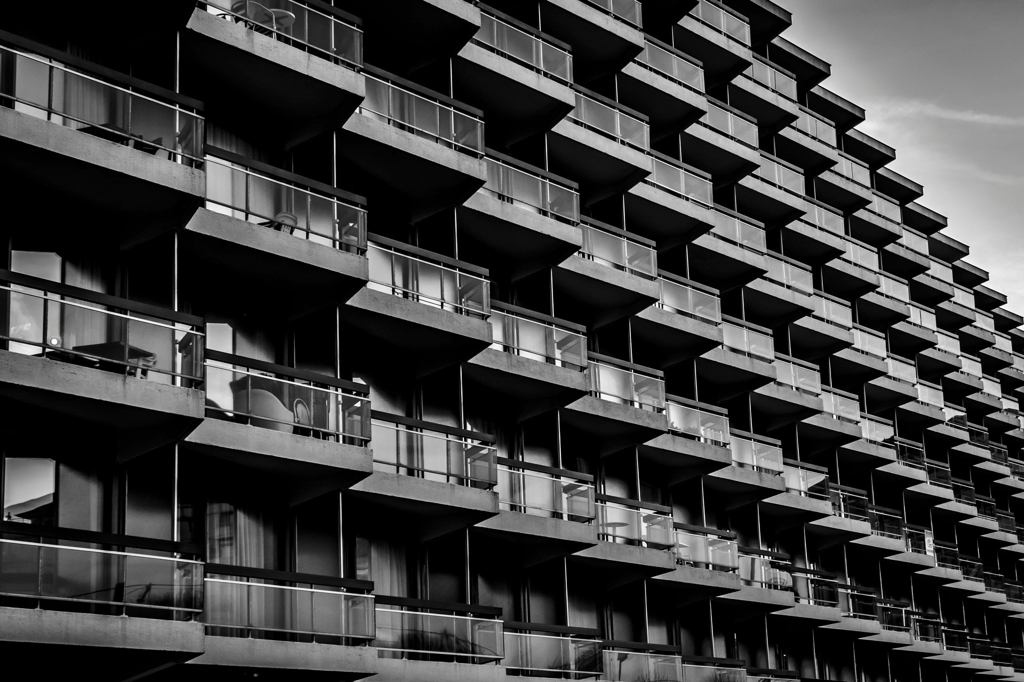 Photo in Cityscape #appartments #coast #piled up #old people #balcony