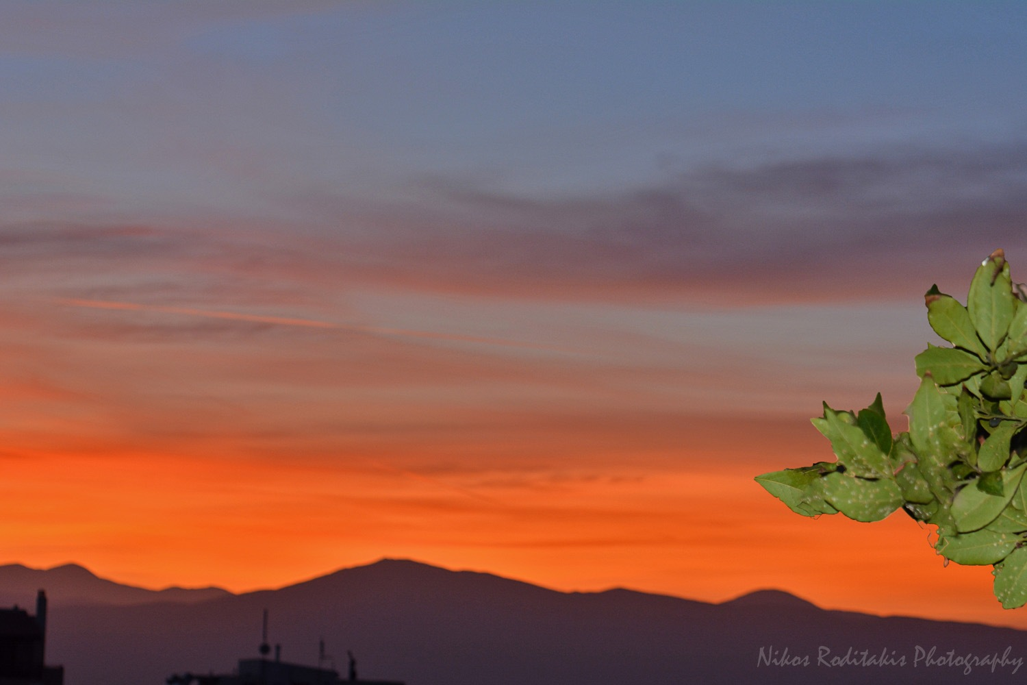 Sunset from the balcon by Nikos Roditakis
