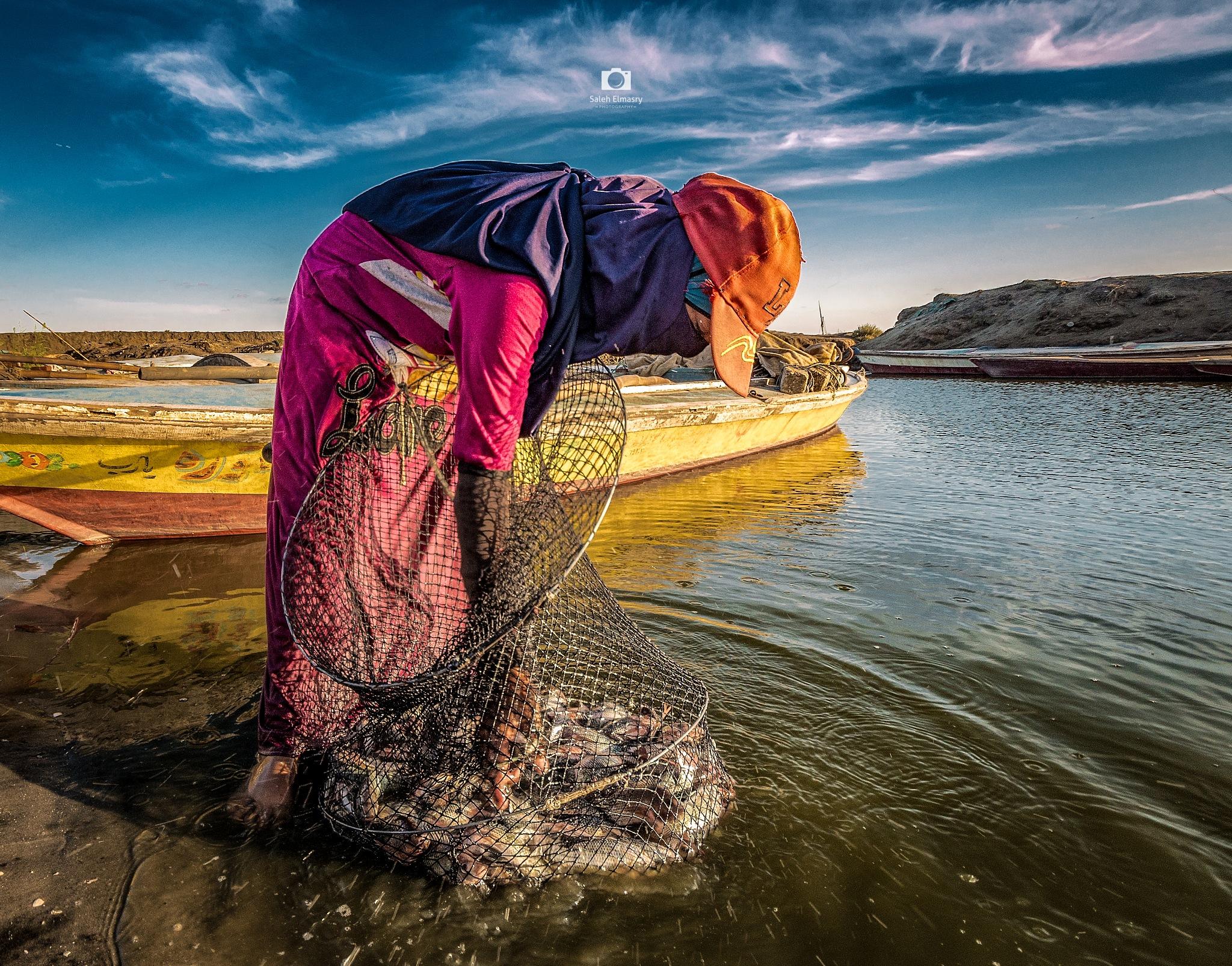 Fishing in Lake Burullus by Saleh Almasry