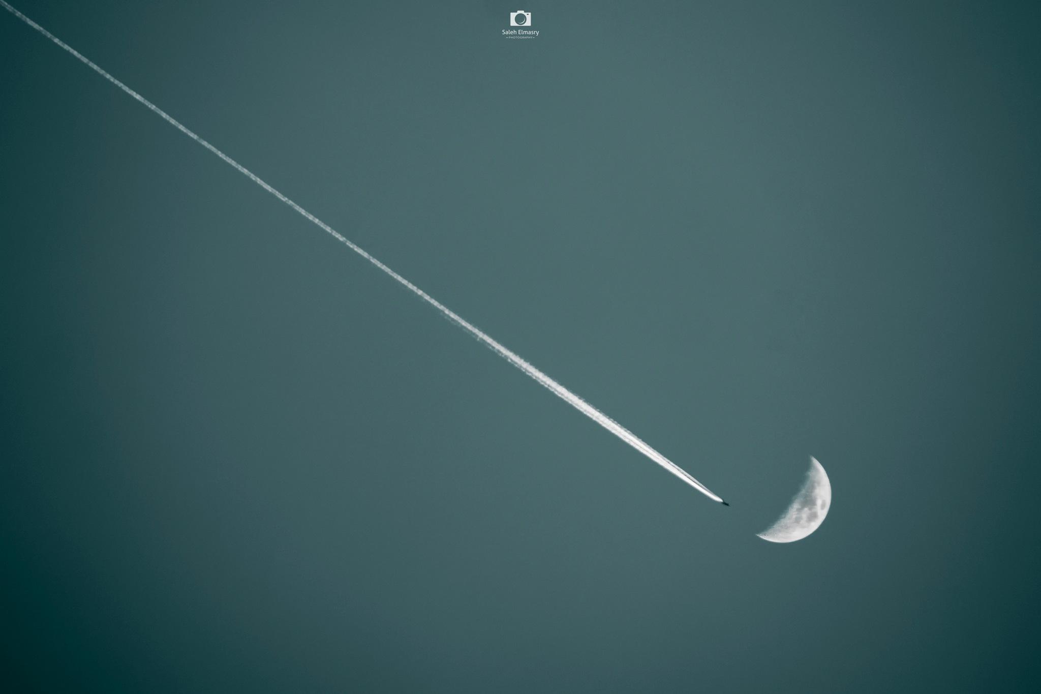 Towards the moon by Saleh Almasry