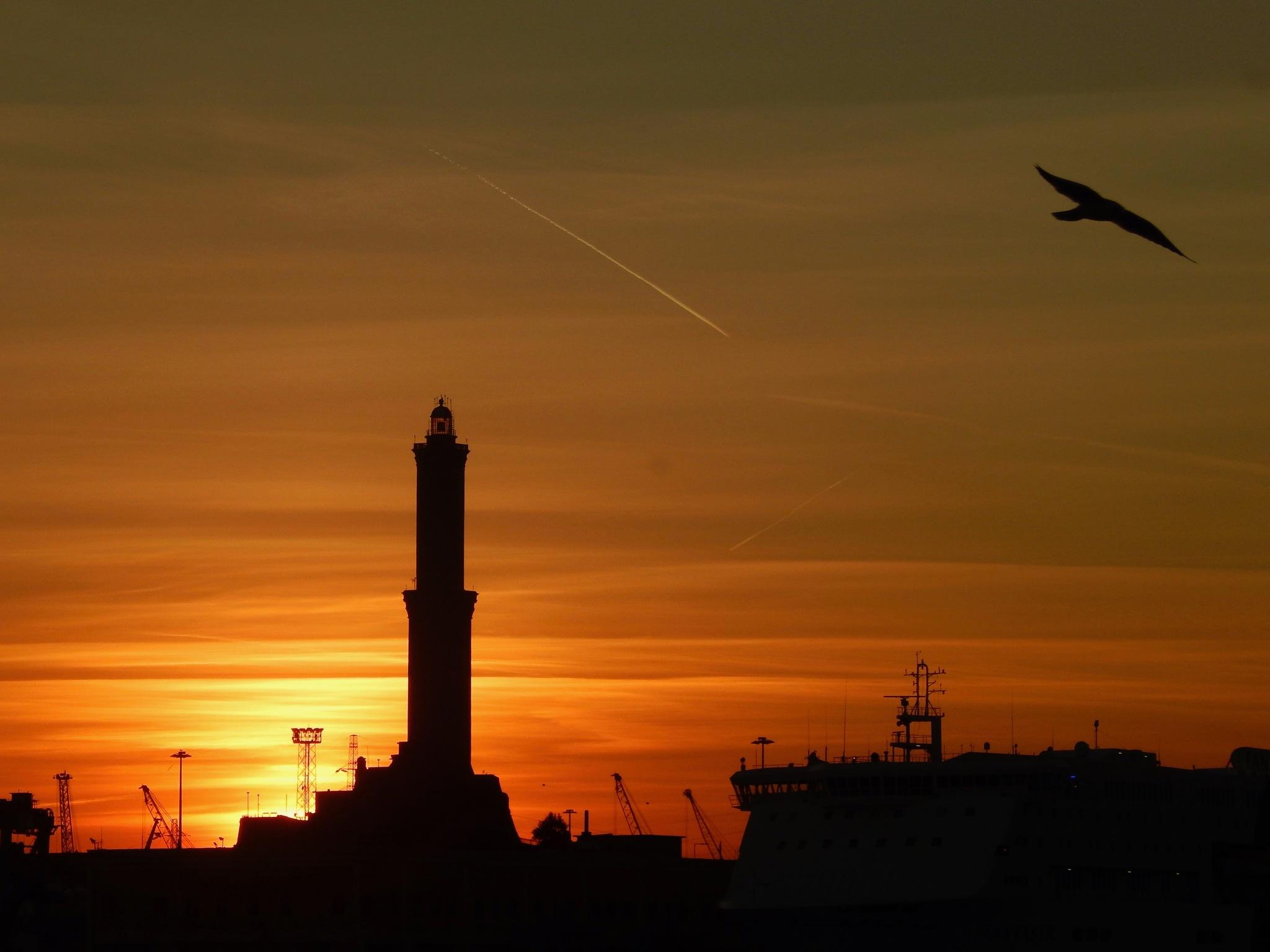 Photo in Landscape #sunset #tramonto #mare #sea #inverno #winter