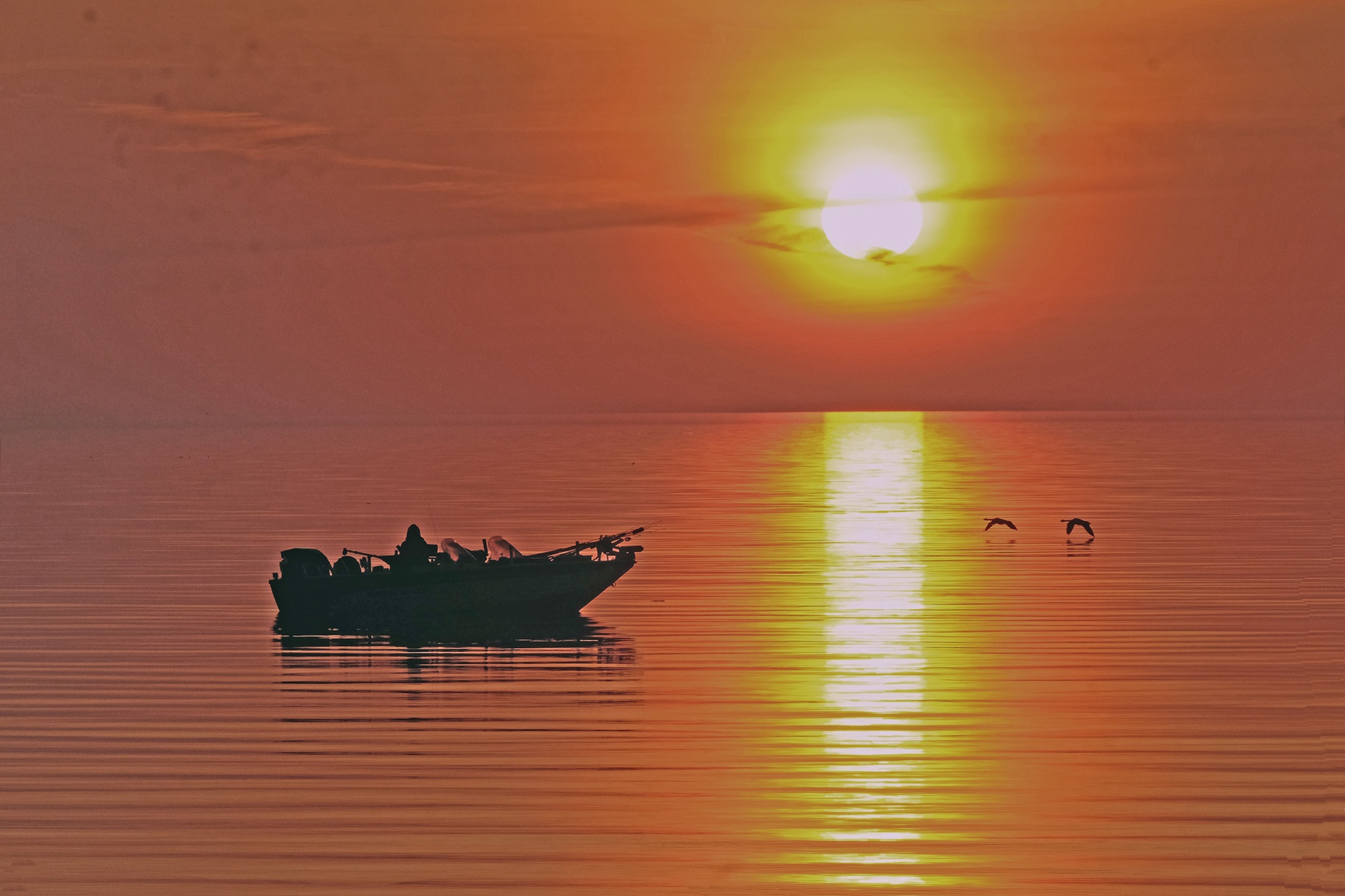 Sunrise Fisherman by Wovoka