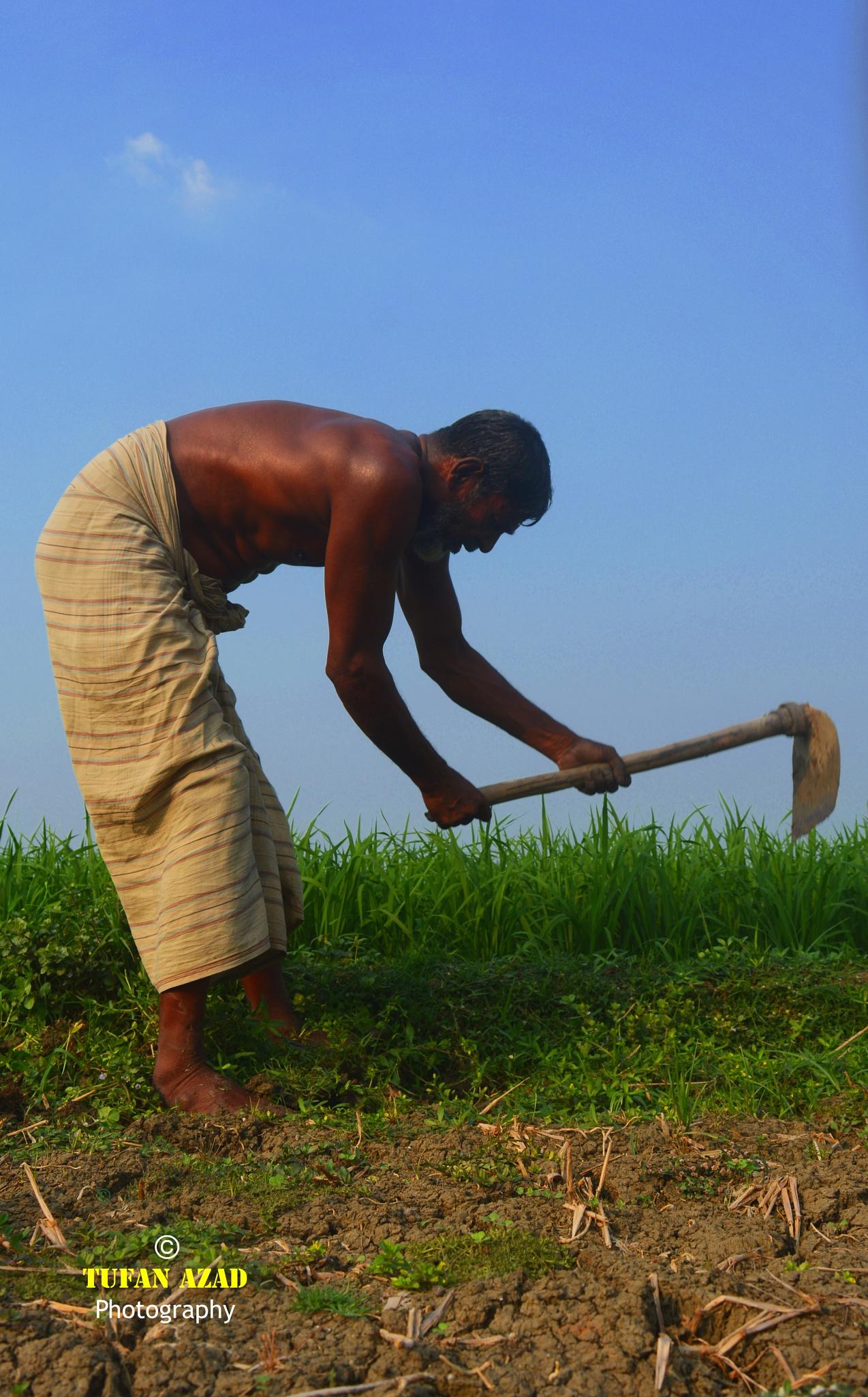 'A old farmer'  by Tufan Azad Photography