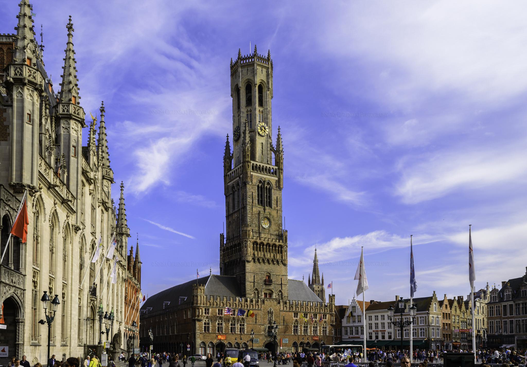 Belfry of Bruges (Brugge), Belgium by Siniša Ciglenečki