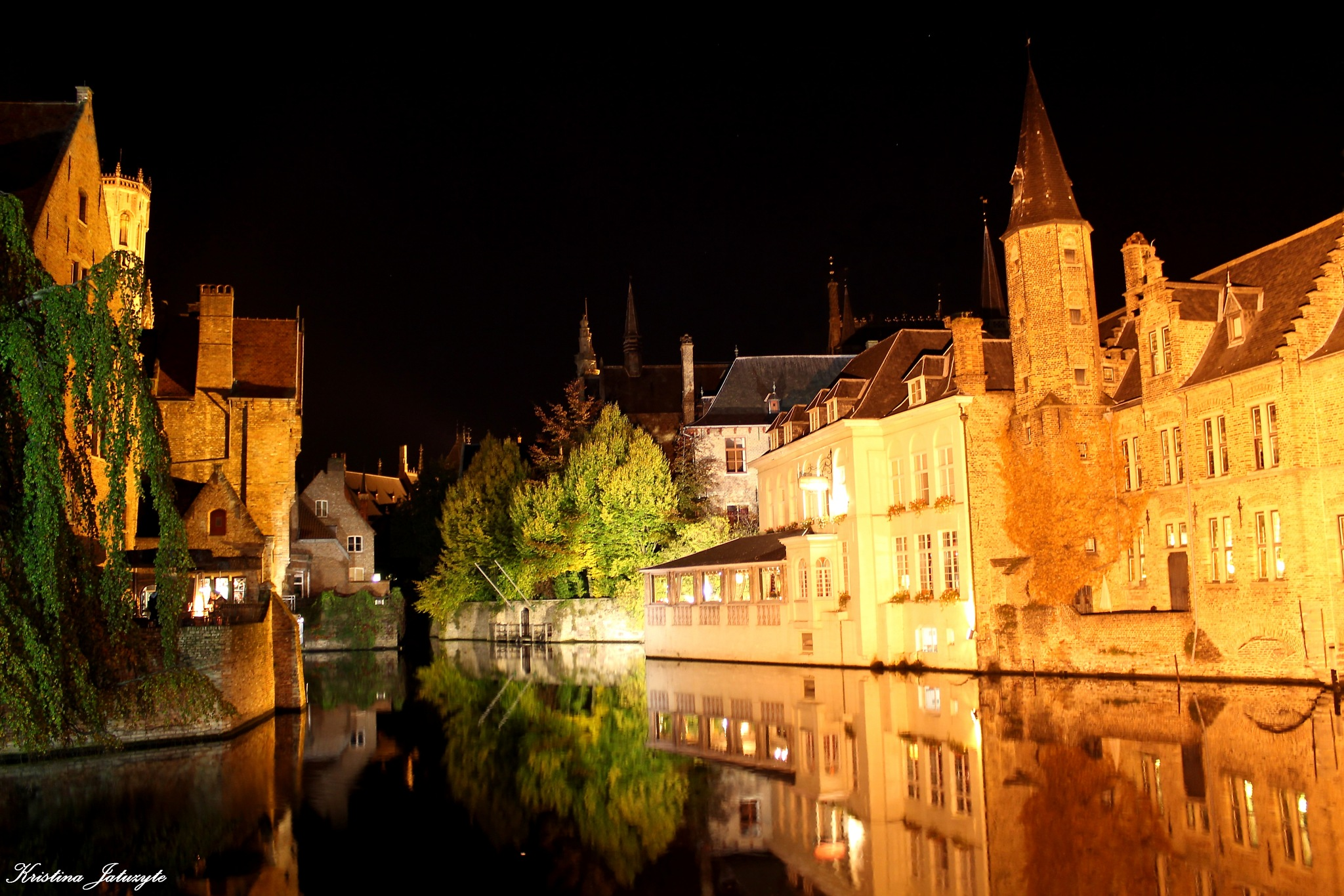 Bruges at night by Kristina Jatuzyte
