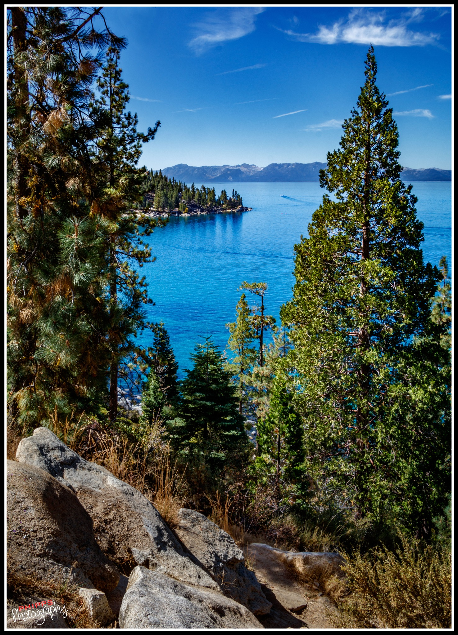 Lake Tahoe from the Nevada side... by PhippsPhotography