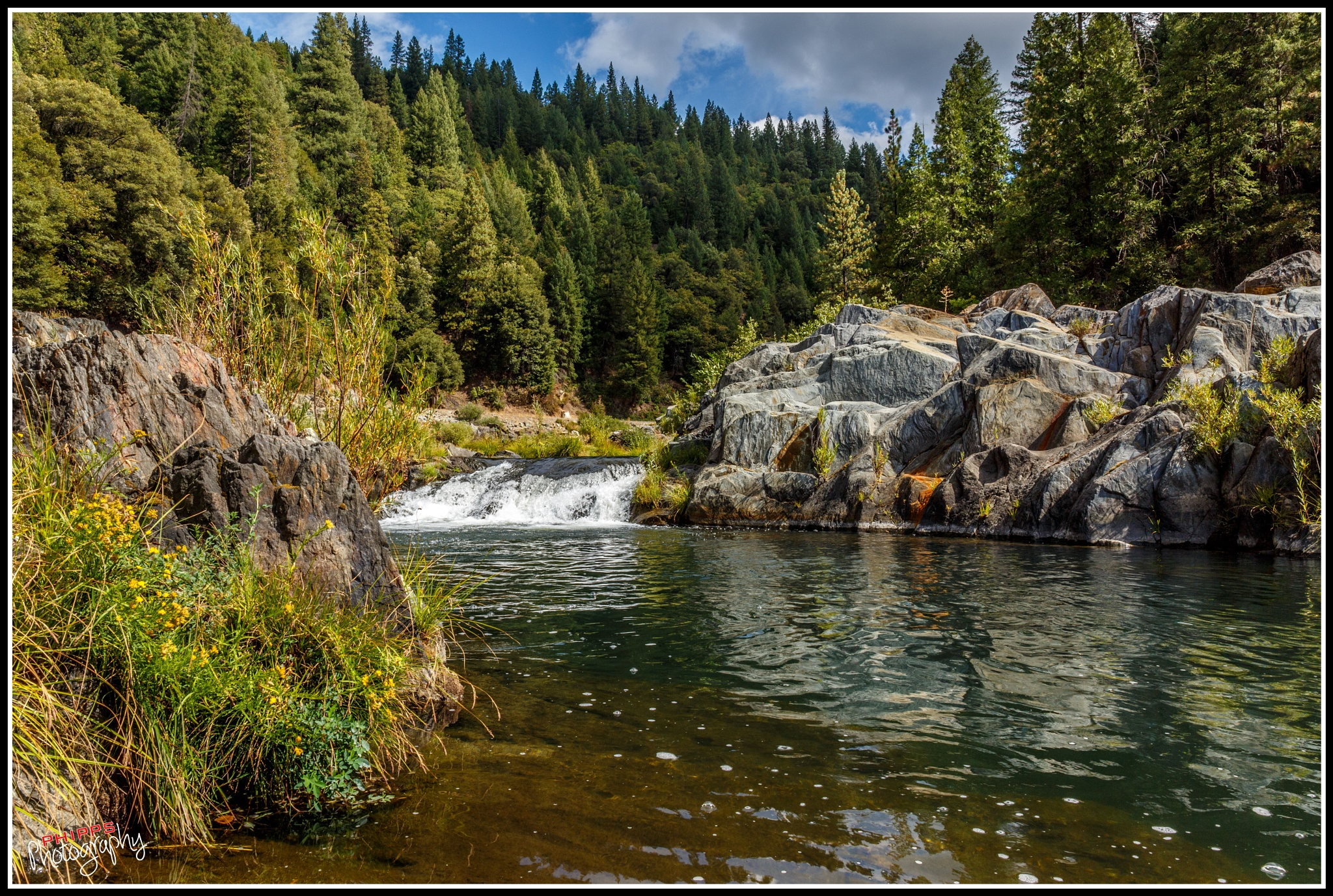 Small Falls, Feather River, California by PhippsPhotography