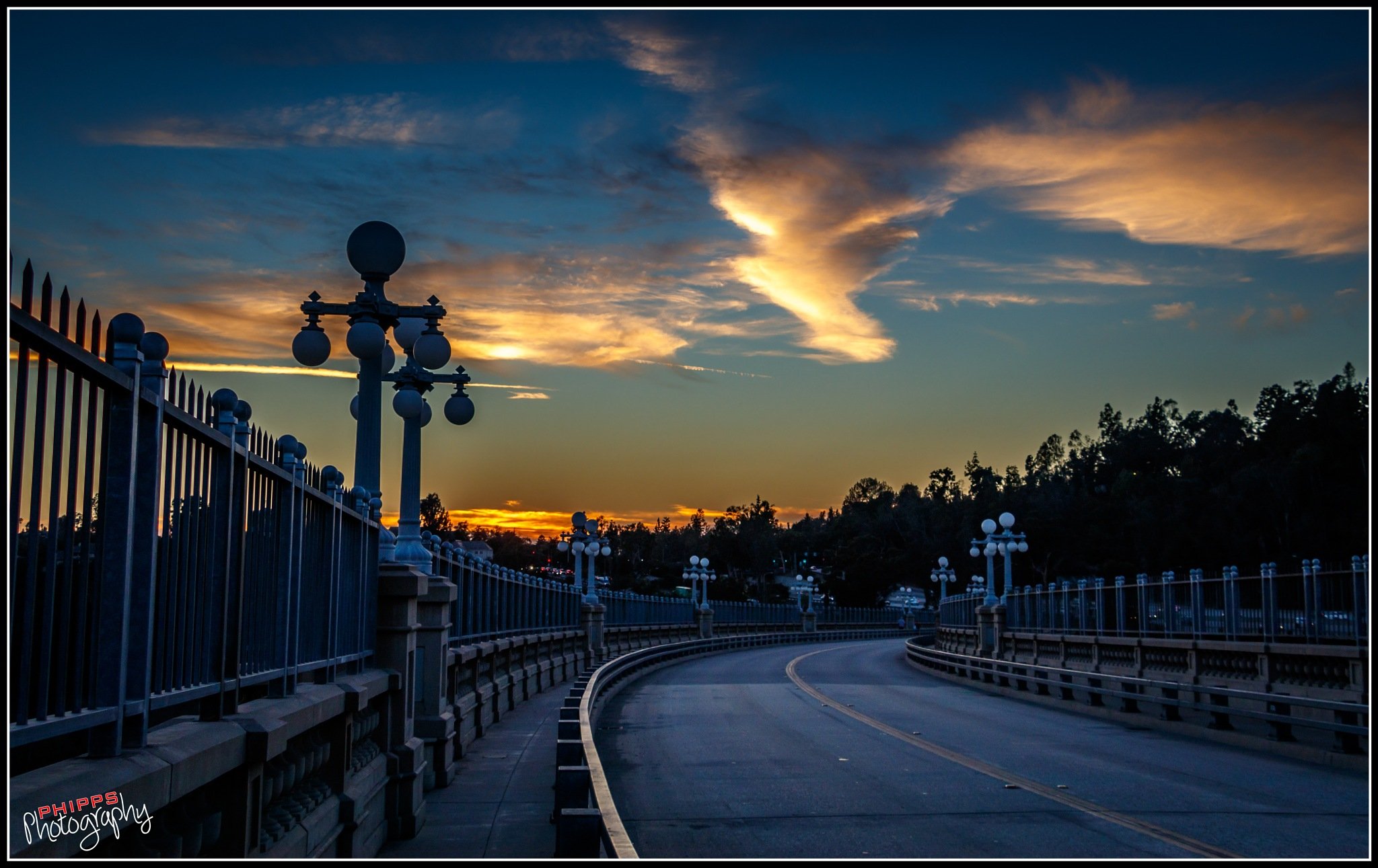 This Evening on the Old Colorado Street Bridge... by PhippsPhotography