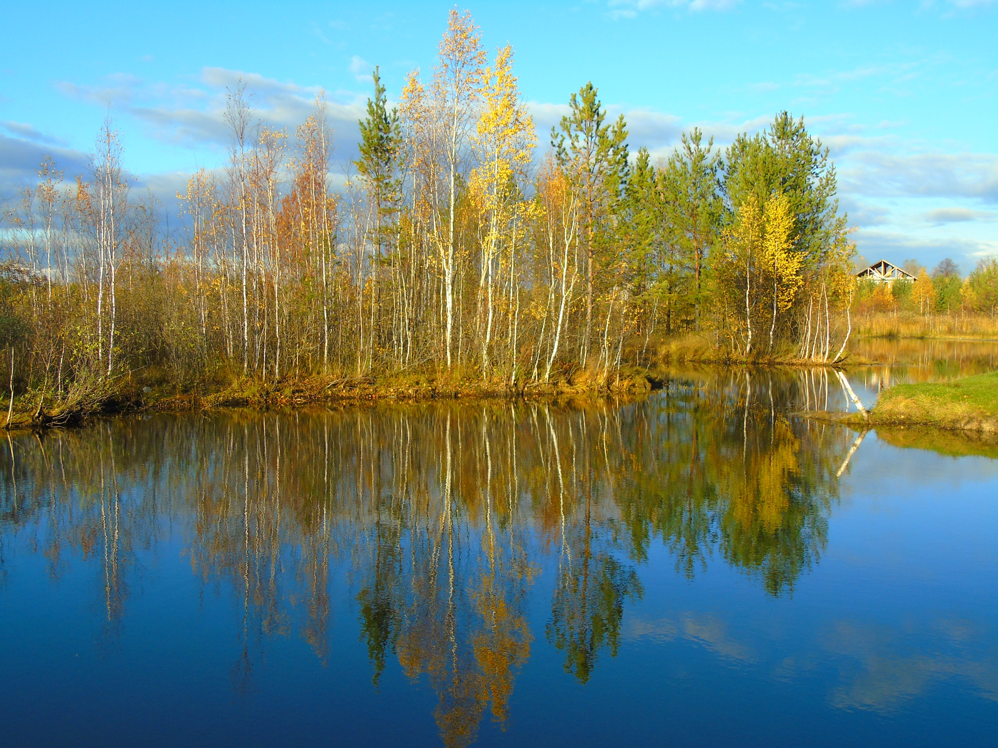 autumn lake by Veronika  Parfenyuk
