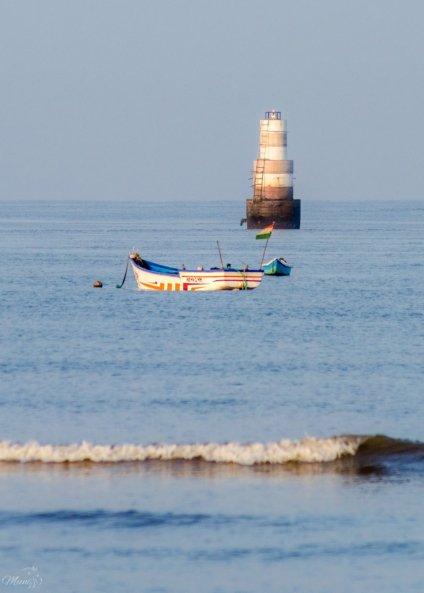 A lighthouse.. Steadfast, serene and immovable. by Munindro