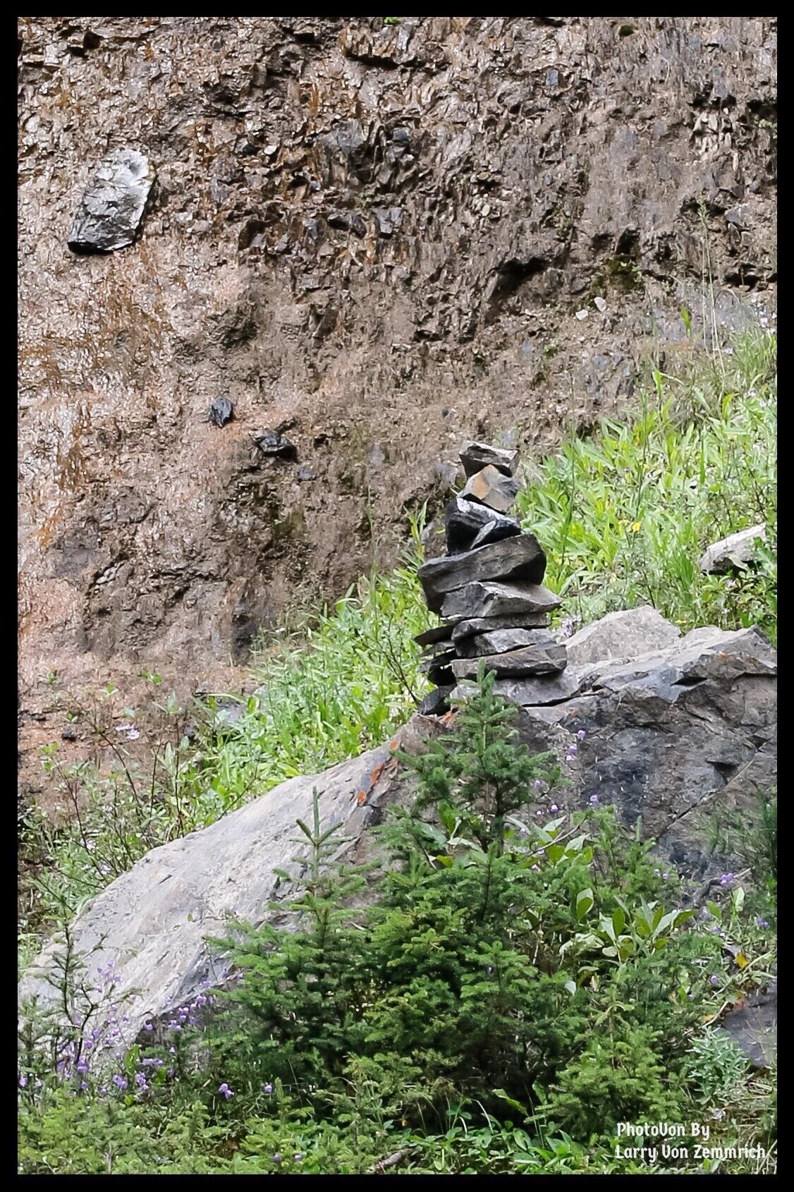 Canadian Native Path marker (Inukshuk) by Larry Von Zemmrich