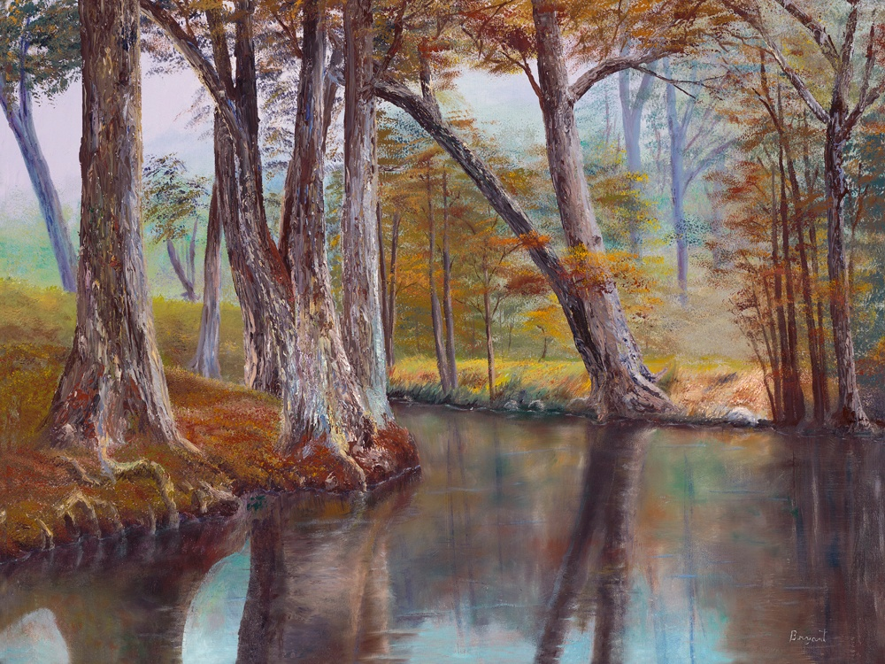 """""""River and Forest in Fall"""" By Les Bryant by LesBryant2"""