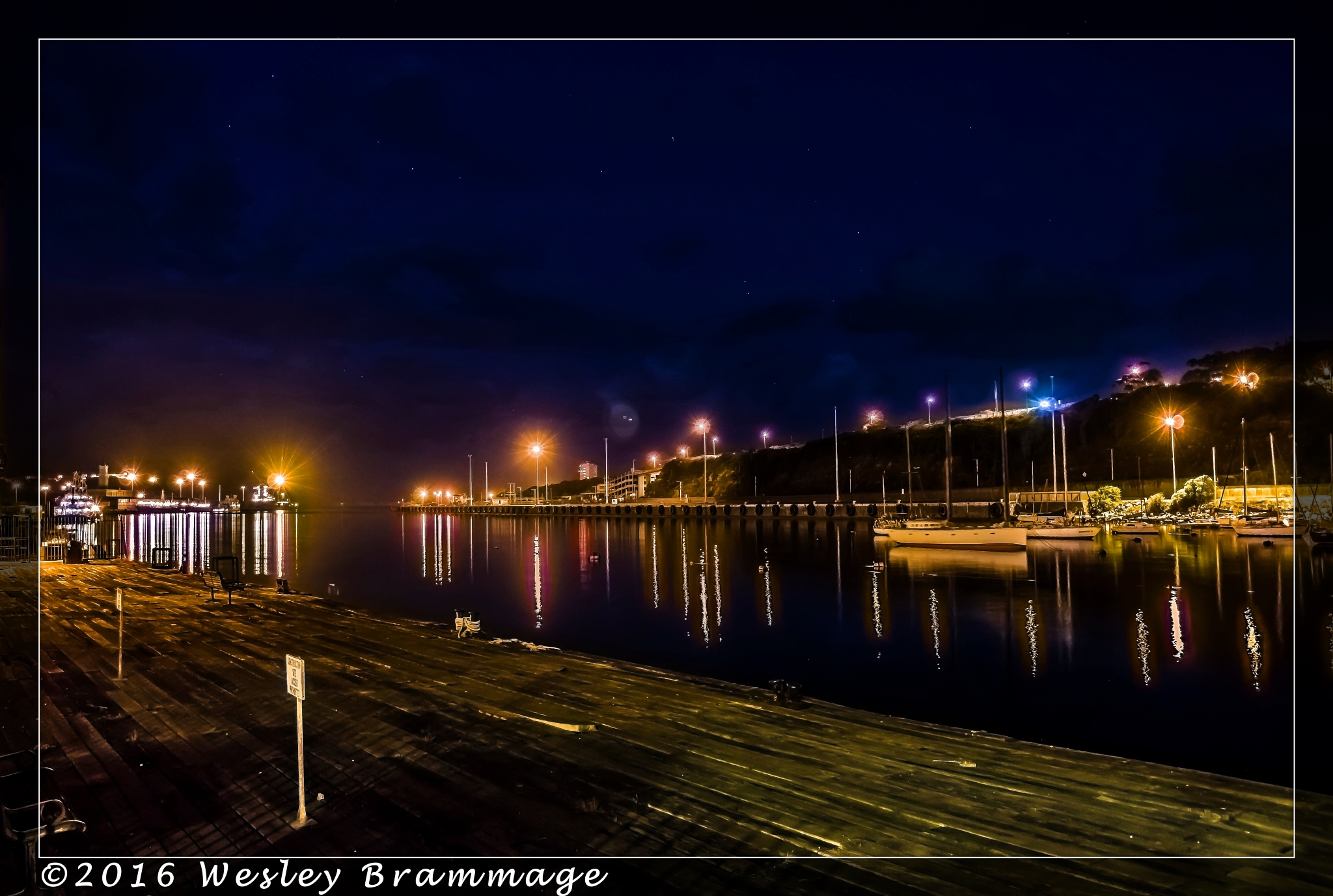 East London Harbour at night by Wesley Brammage