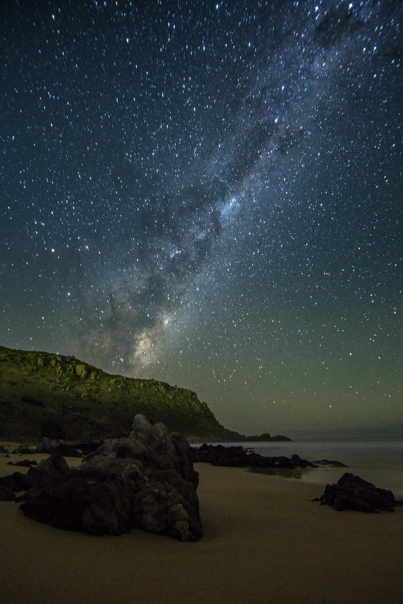 Rocks and Milkyway by Nicole Rix