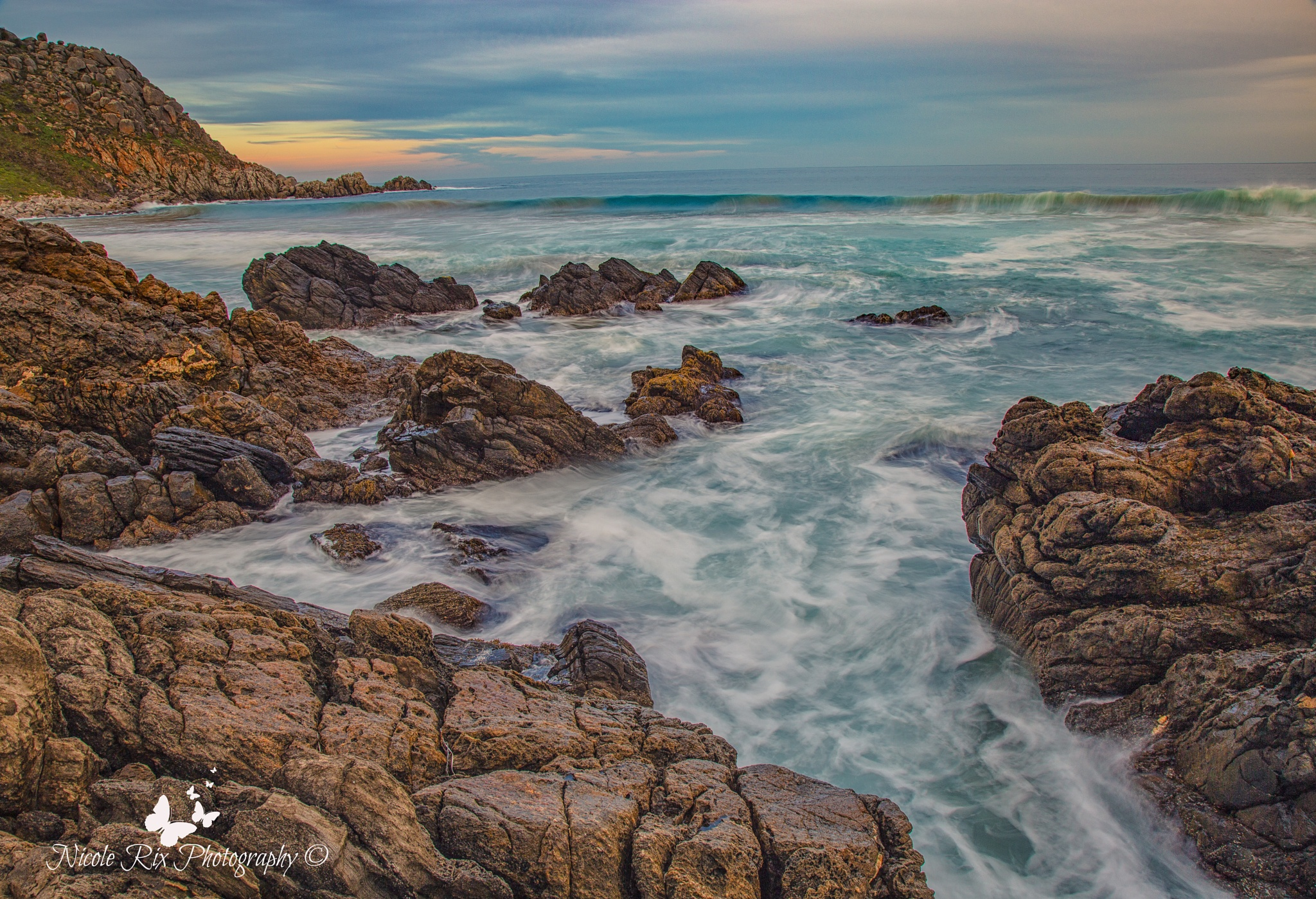 Petrel Cove waves by Nicole Rix