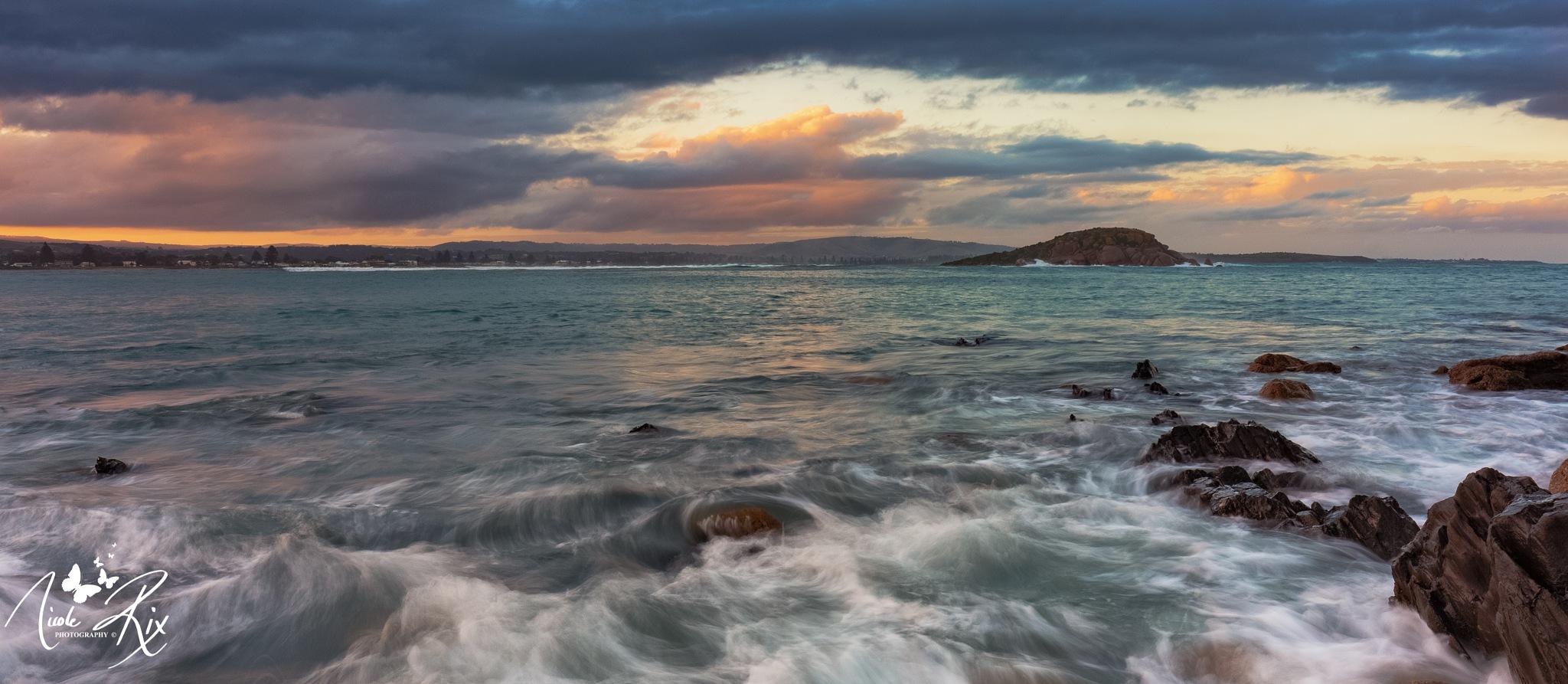 Encounter Bay.. wild waves by Nicole Rix