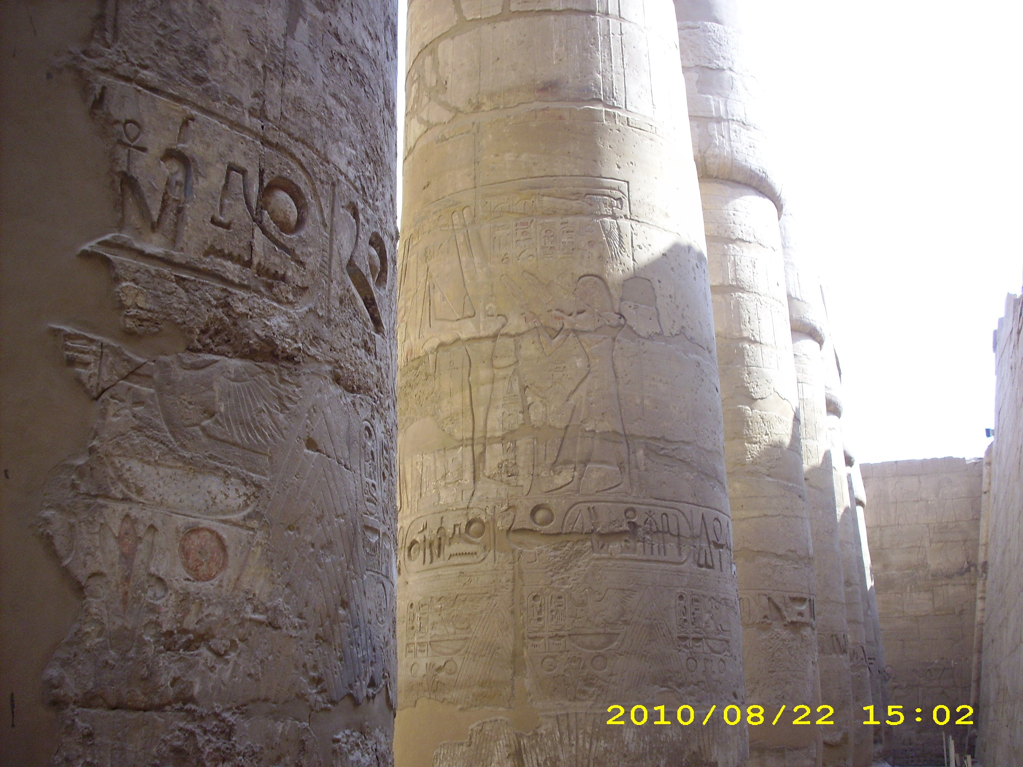 Karnak Temple Pillars by Djoko