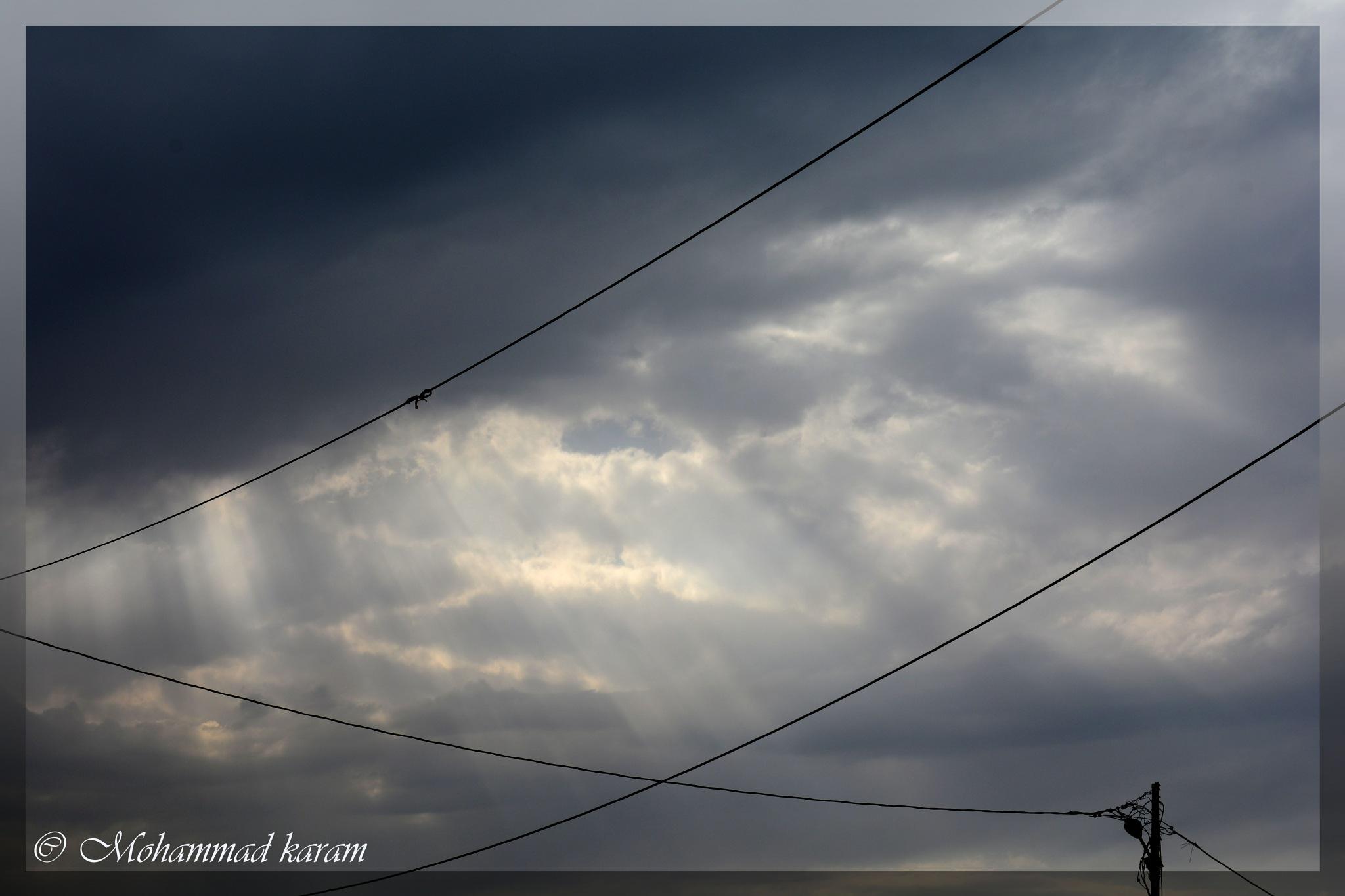 When the sky go artistic by Mohammad Karam