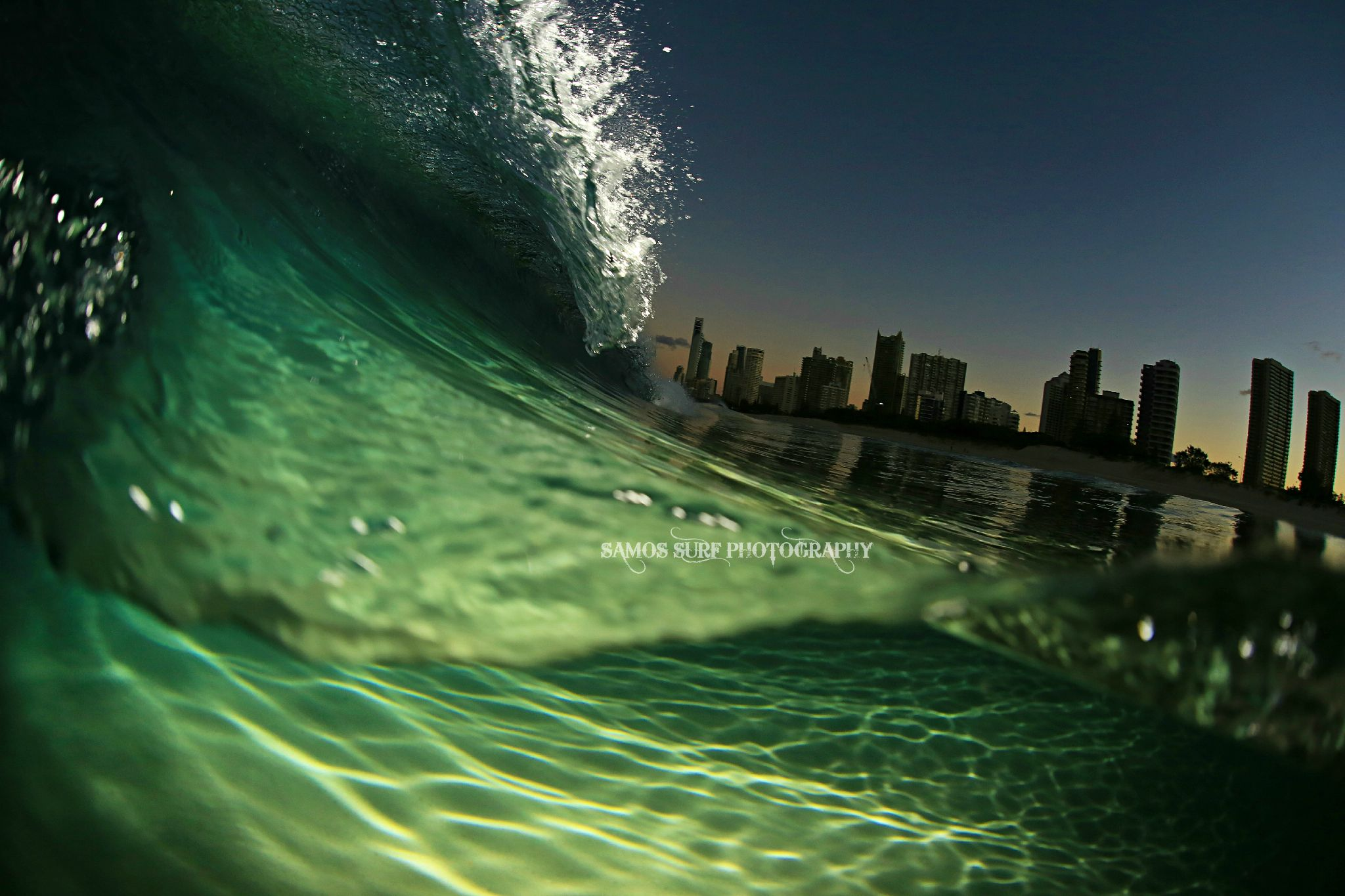LIT UP ABOVE & BELOW by Samos Surf Photography