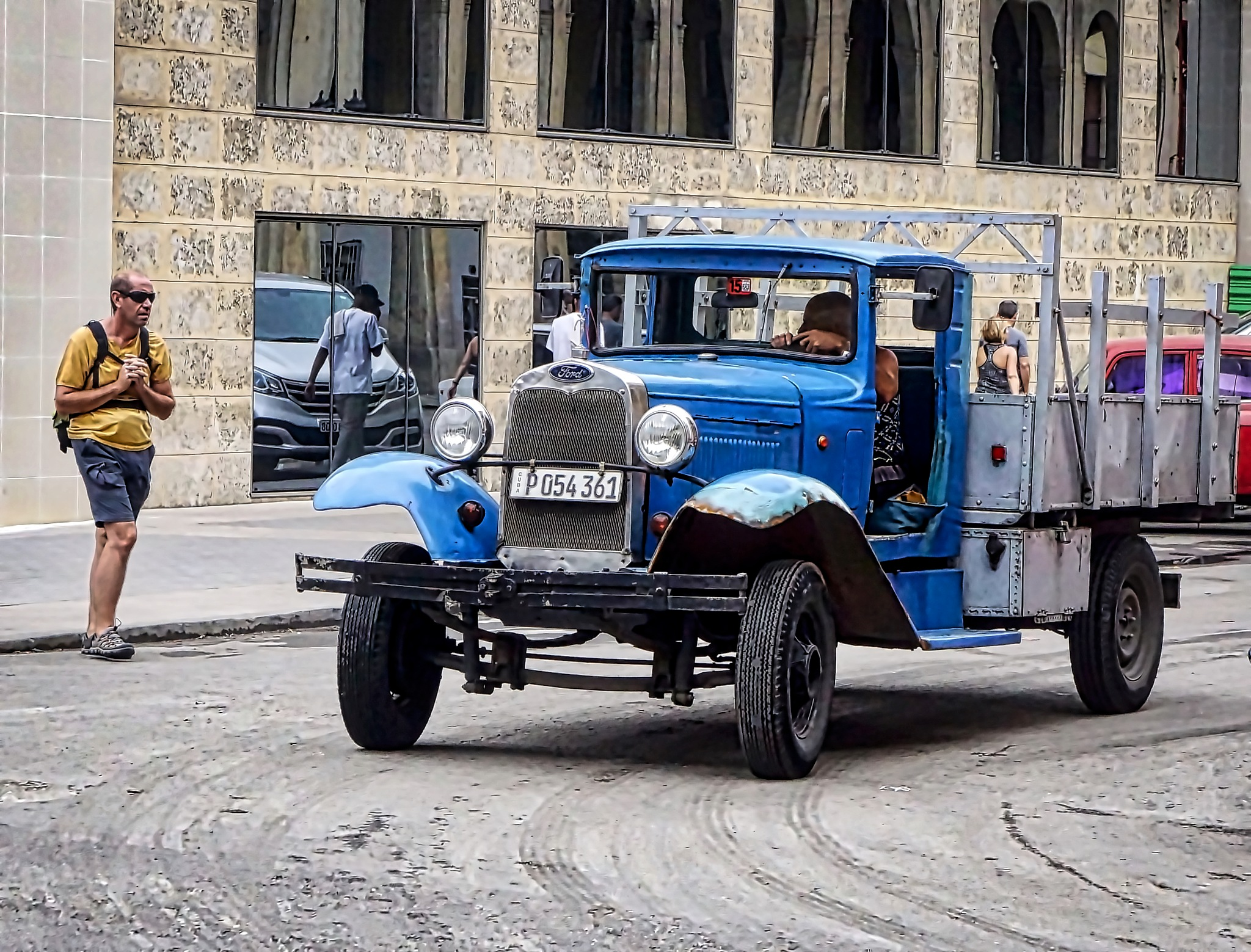 1930's Old Ford Blue Truck by Harrison Hanville