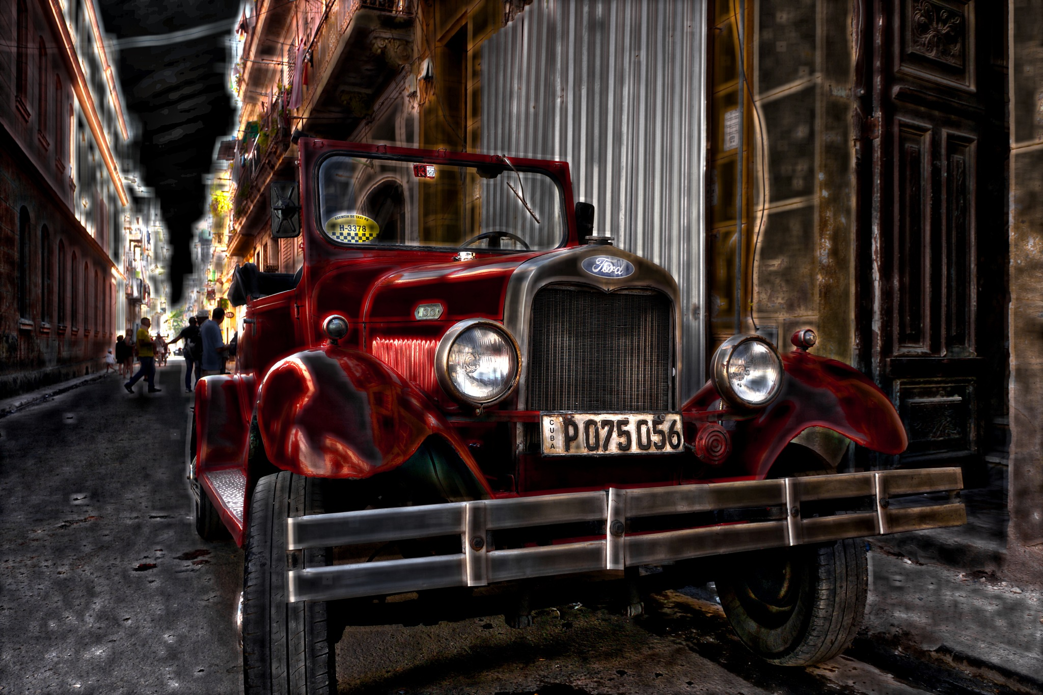 Old Red Ford in Havana by Harrison Hanville