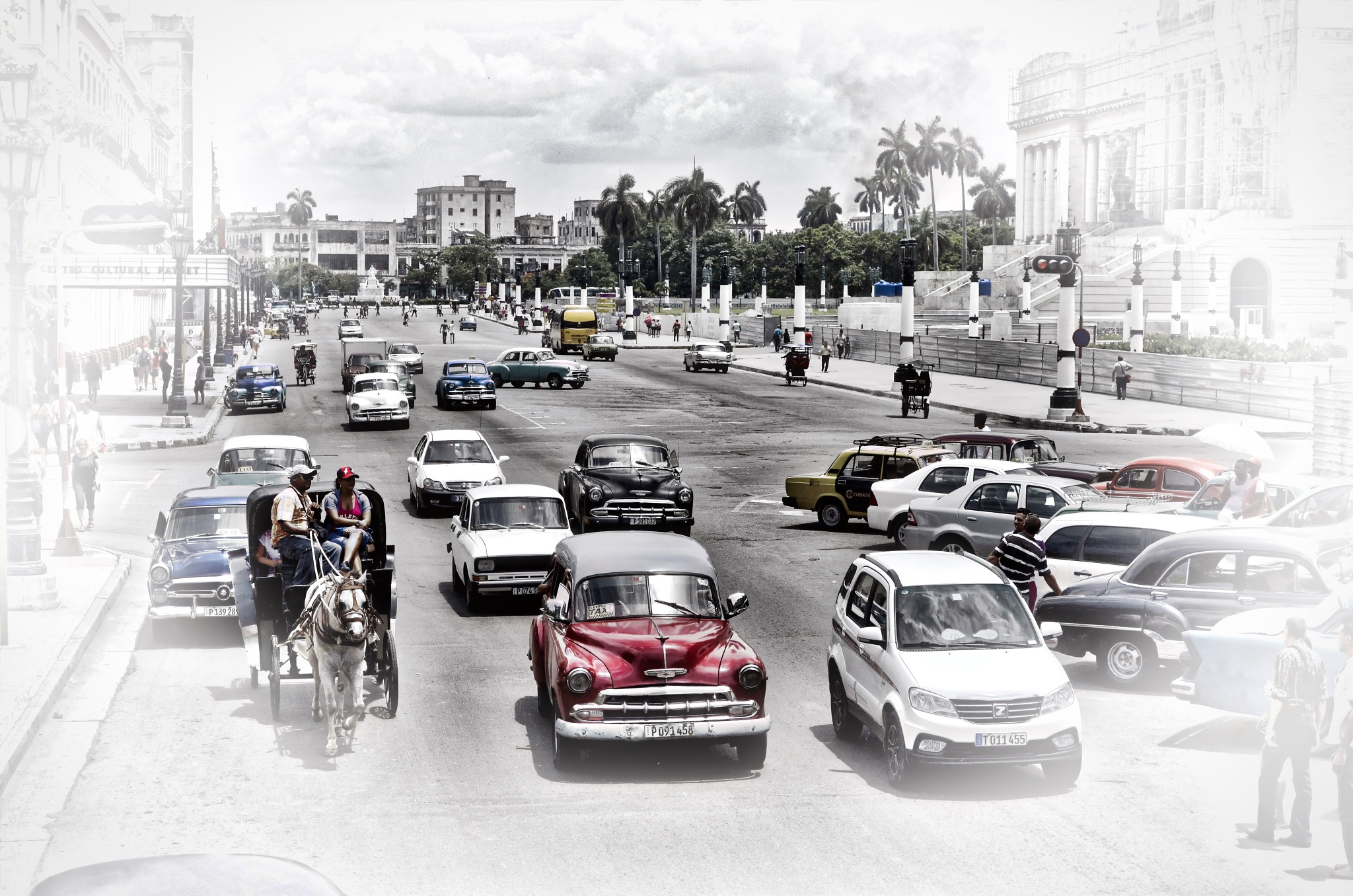 Another traffic and tourist day by Harrison Hanville