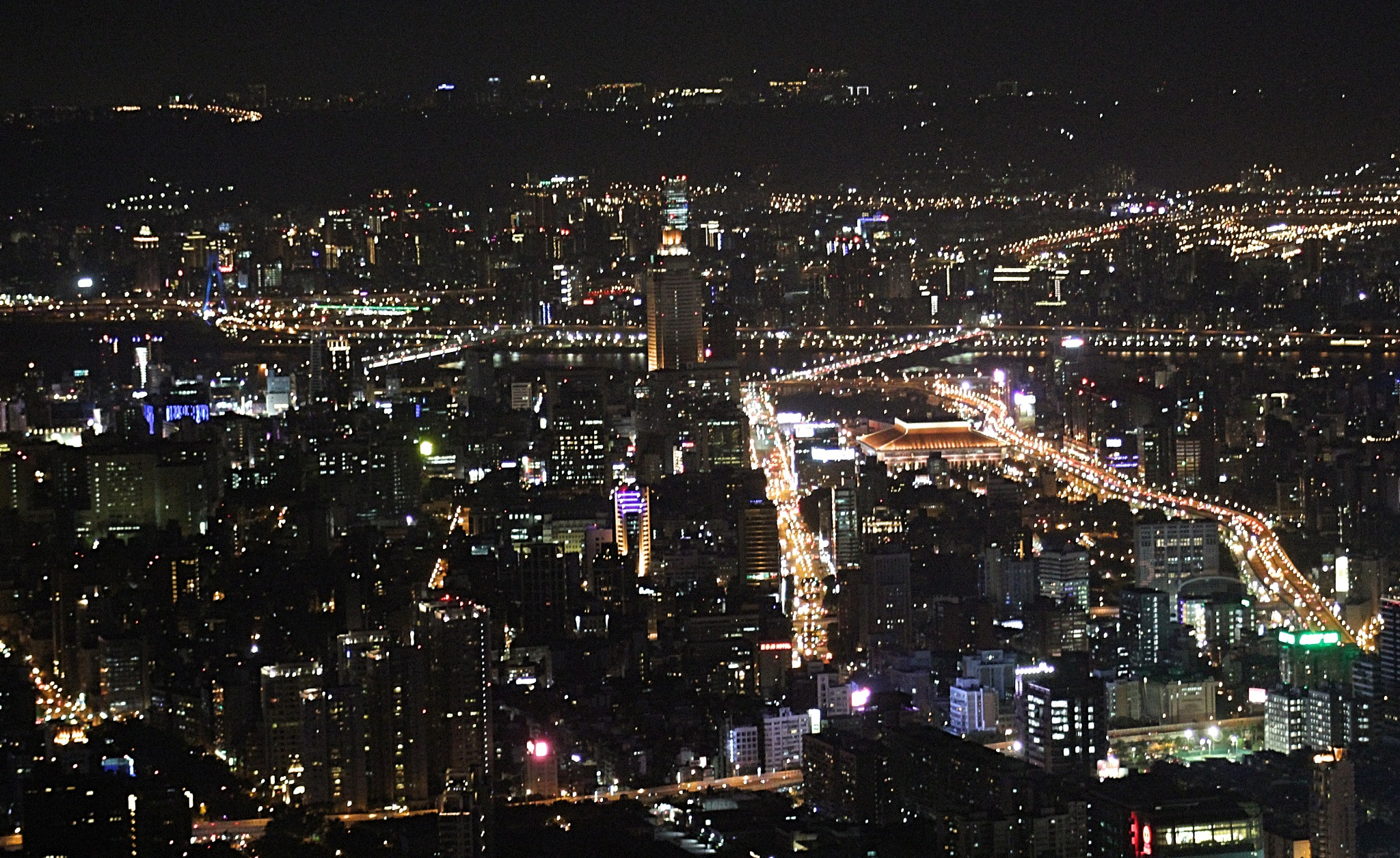Night view from 101 by Robert Borden