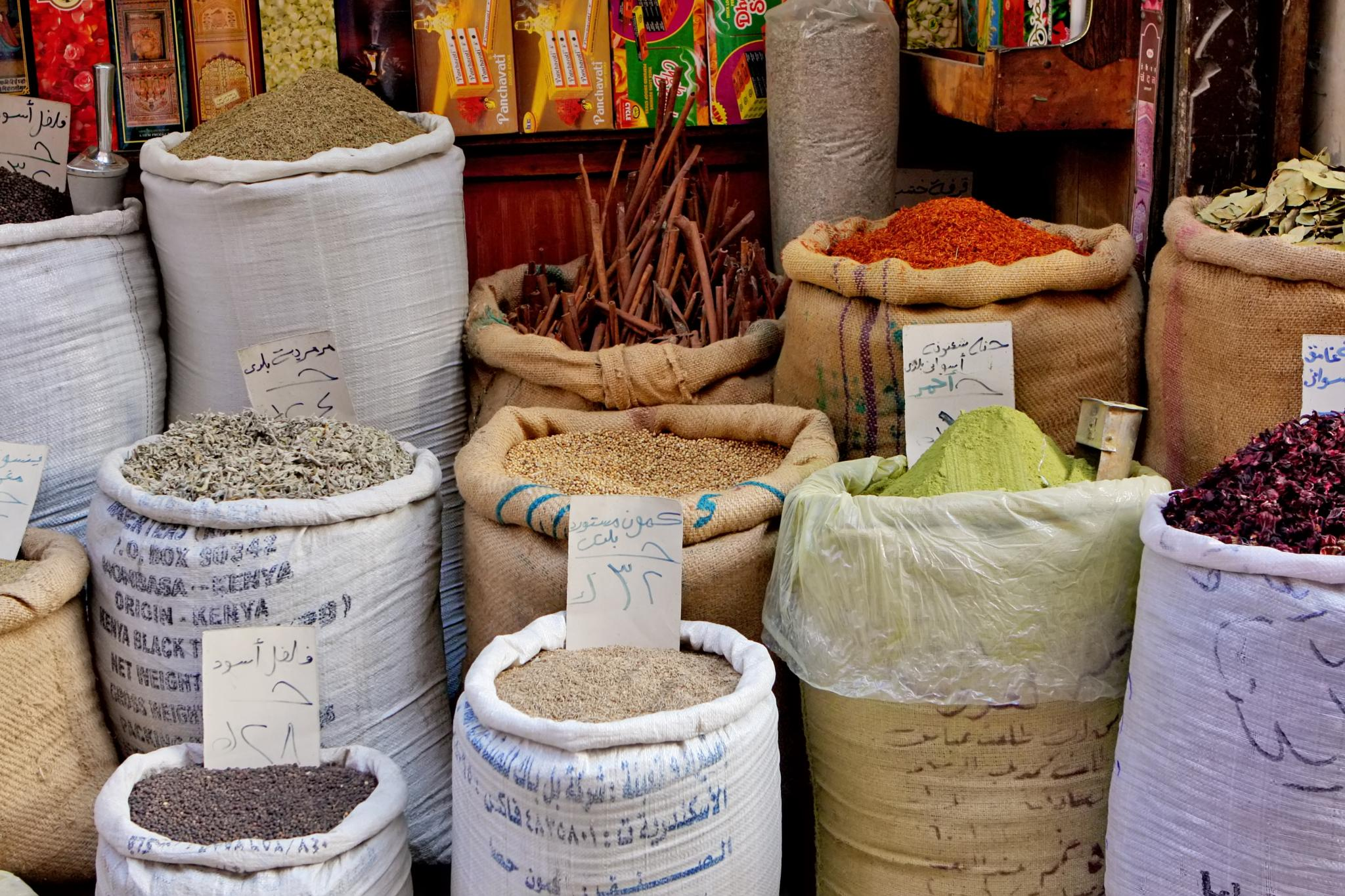 Spice Shop in Cairo by Sonja Ferreira