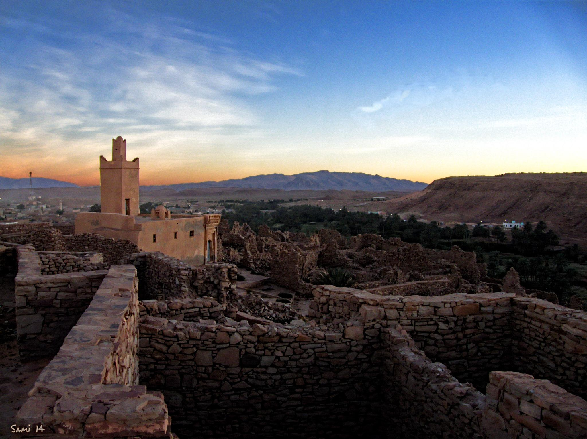 Sunset over the ksar. by Samir Sami