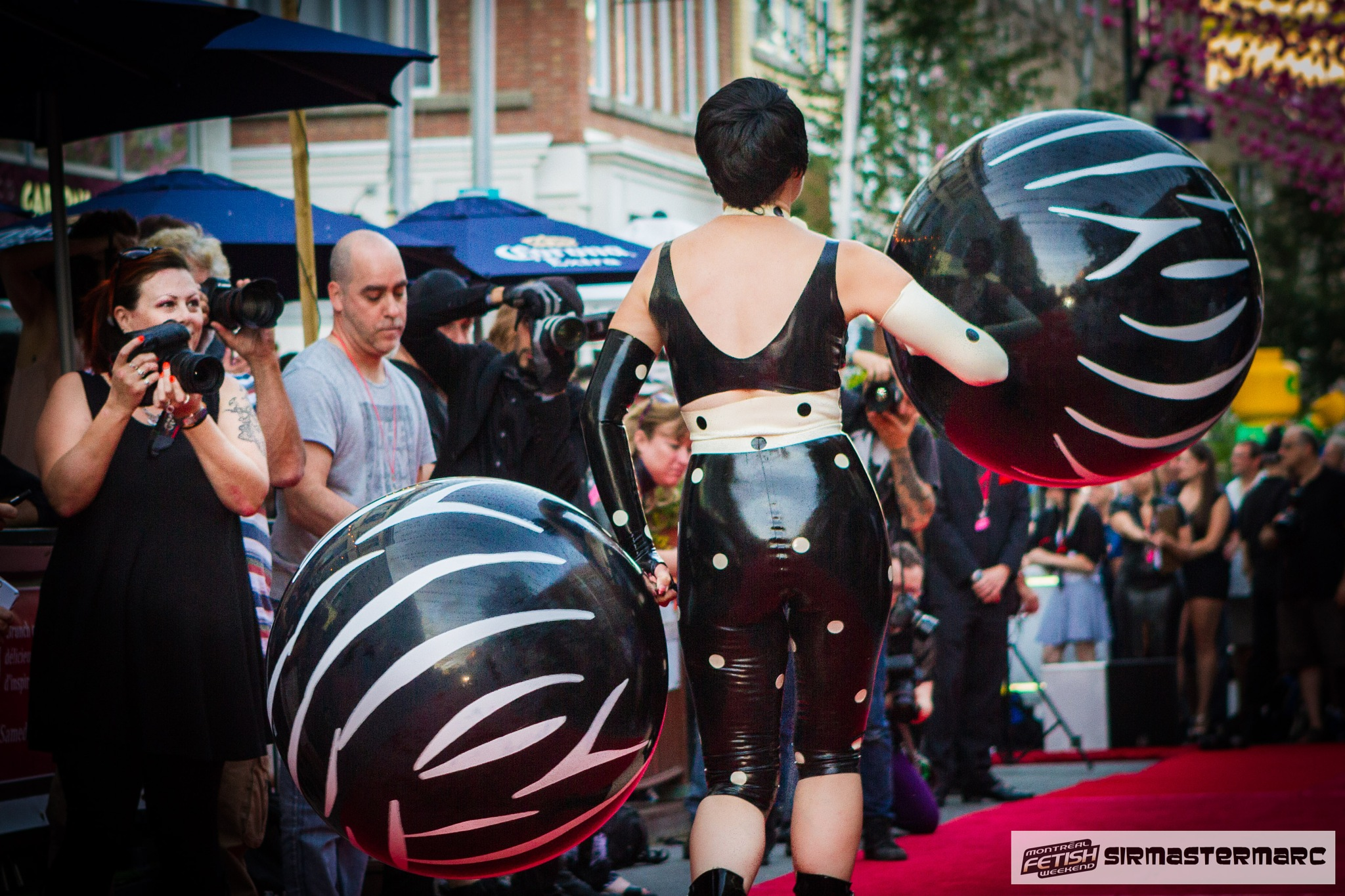 Domina Elle having fun with the crowd by SirMasterMarc