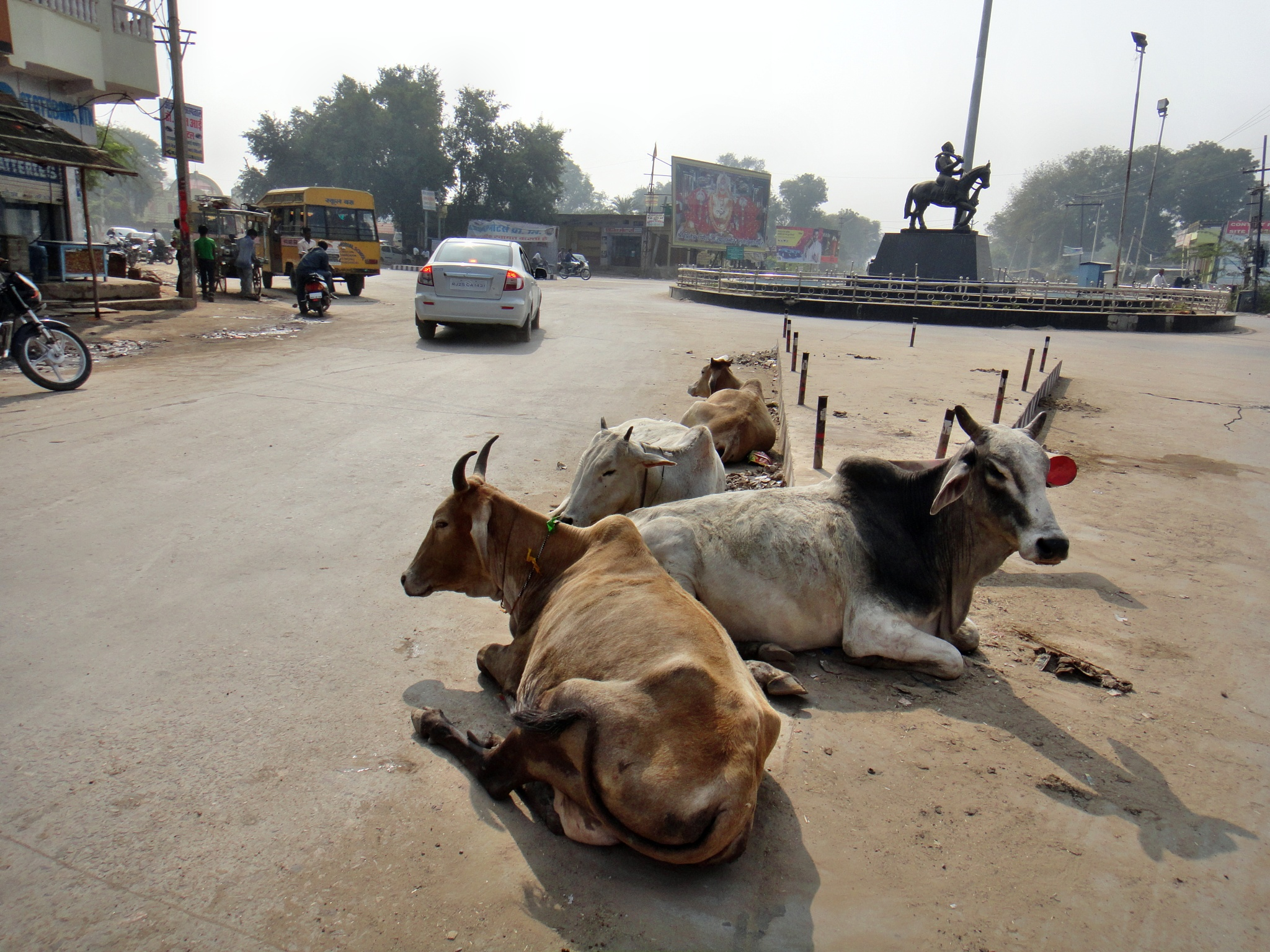 Trafic in India by Hans Andreasson