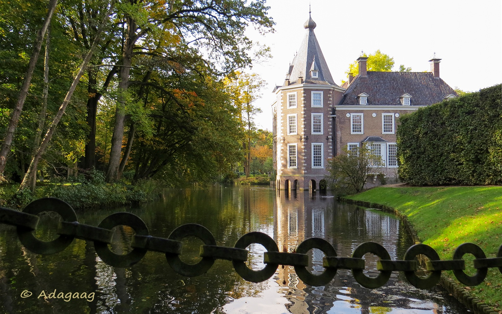 View of the old bridge to the Castle Nijenhuis by adagaag