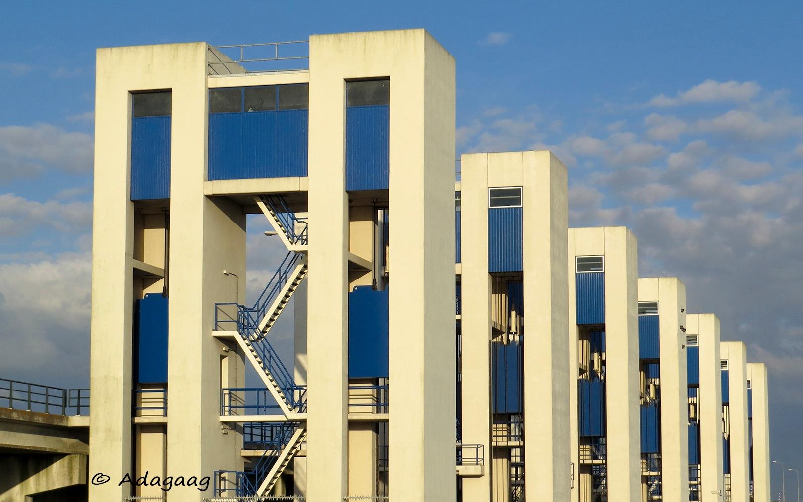 The locks of Lelystad by adagaag