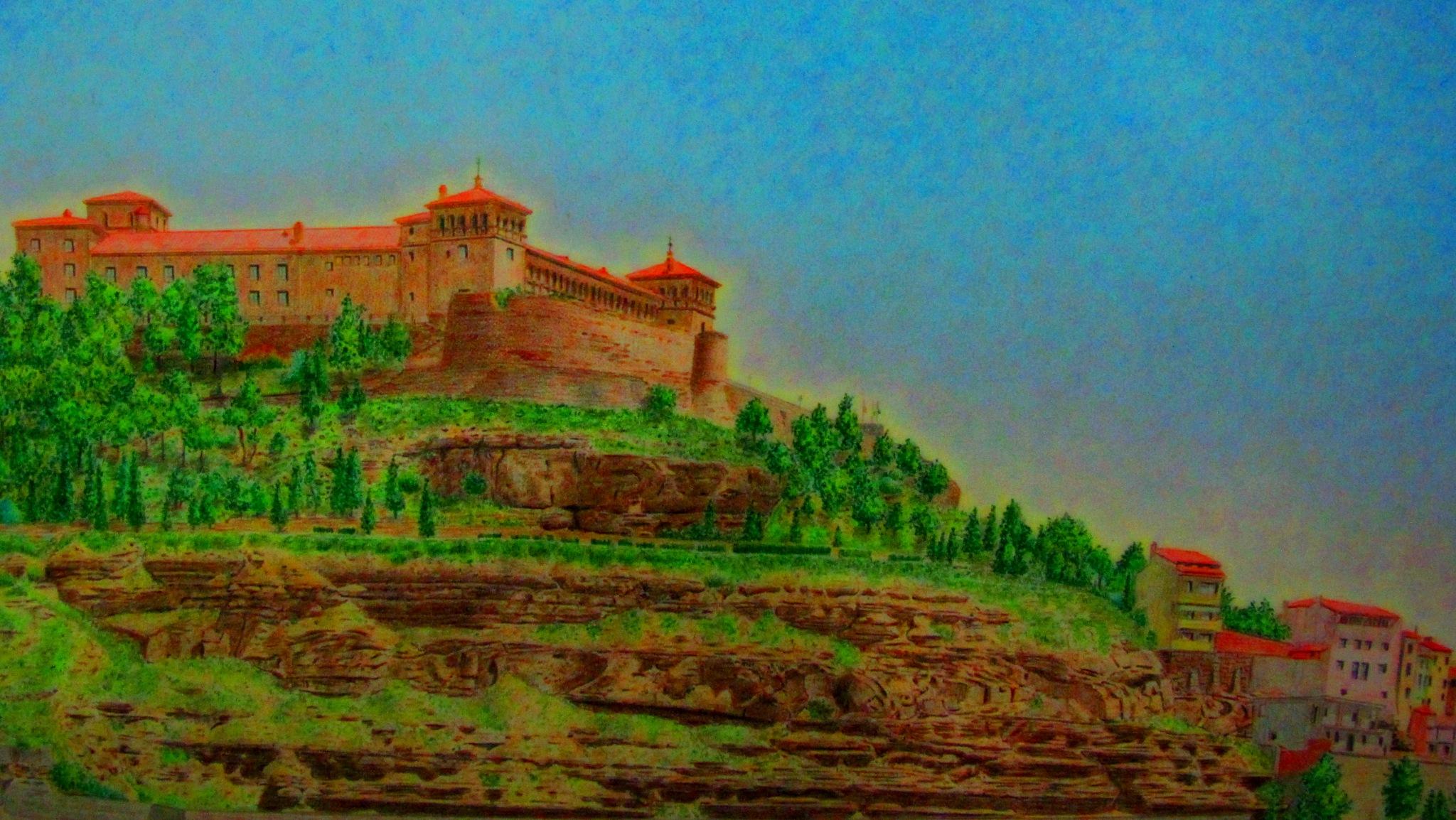castillo de alcañiz ,lapices de colores por  fernando querol by angelgarcia